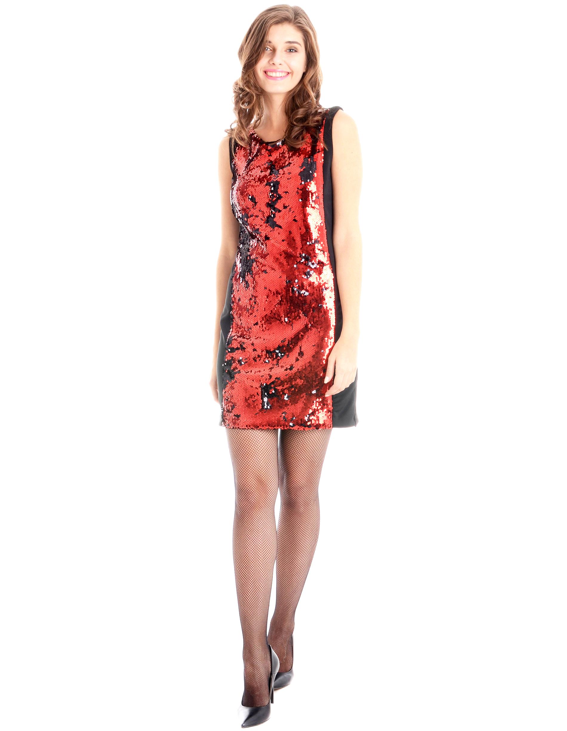 Sukienka - 22-6239 ROSSO - Unisono