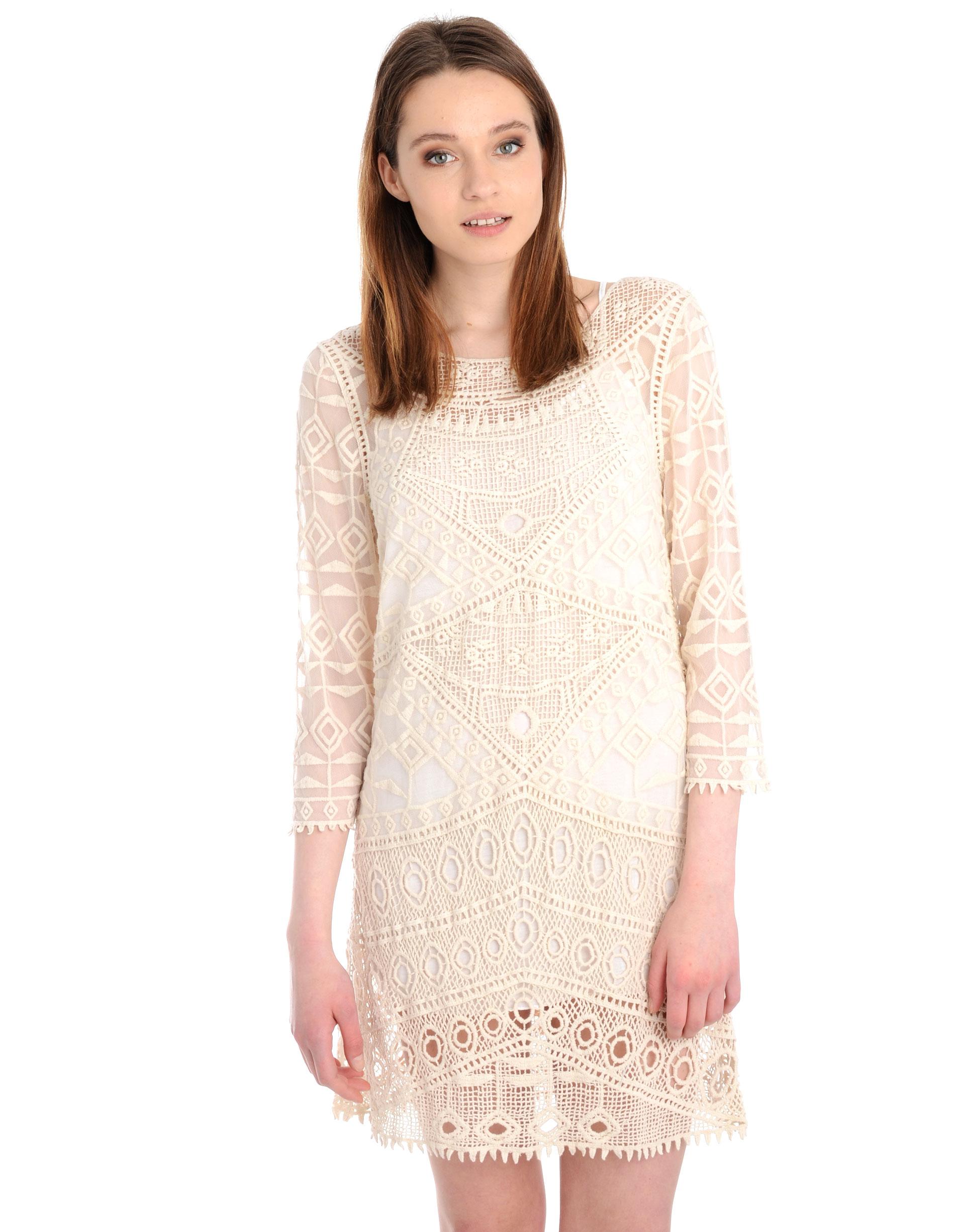 Sukienka - 54-6227 BEIGE - Unisono