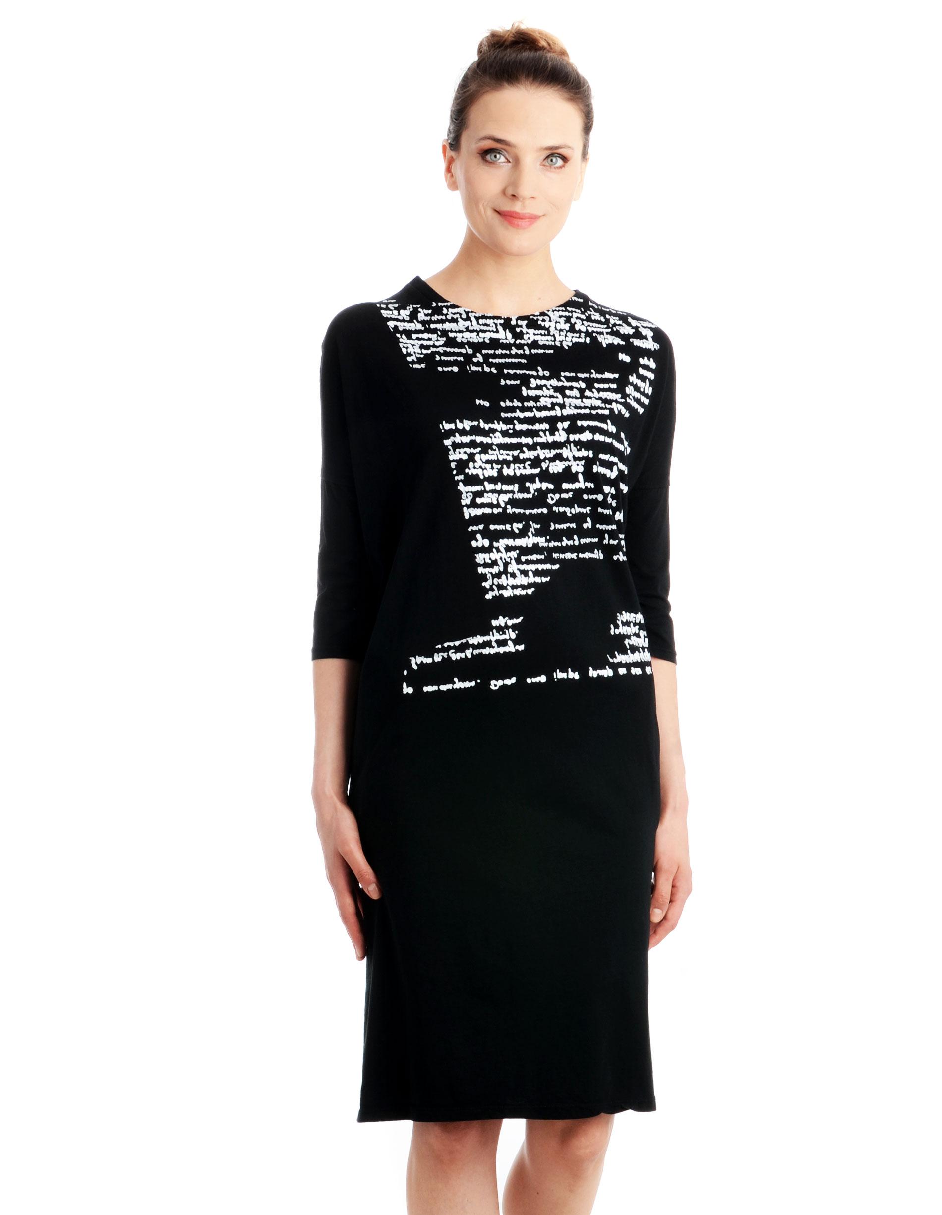Sukienka - 16-15501 NERO - Unisono