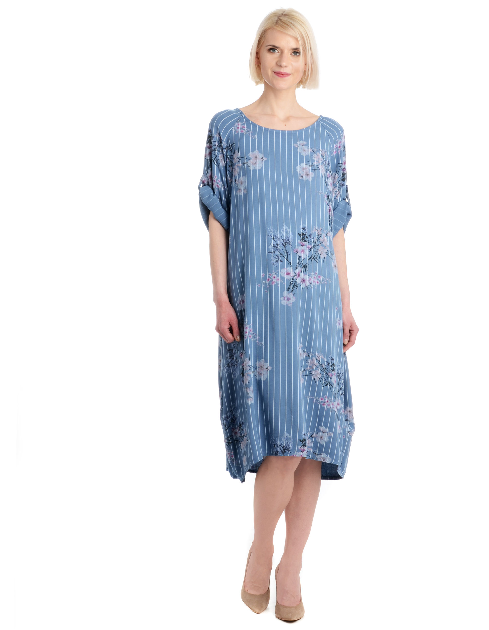 Sukienka - 75-1368 JEANS - Unisono