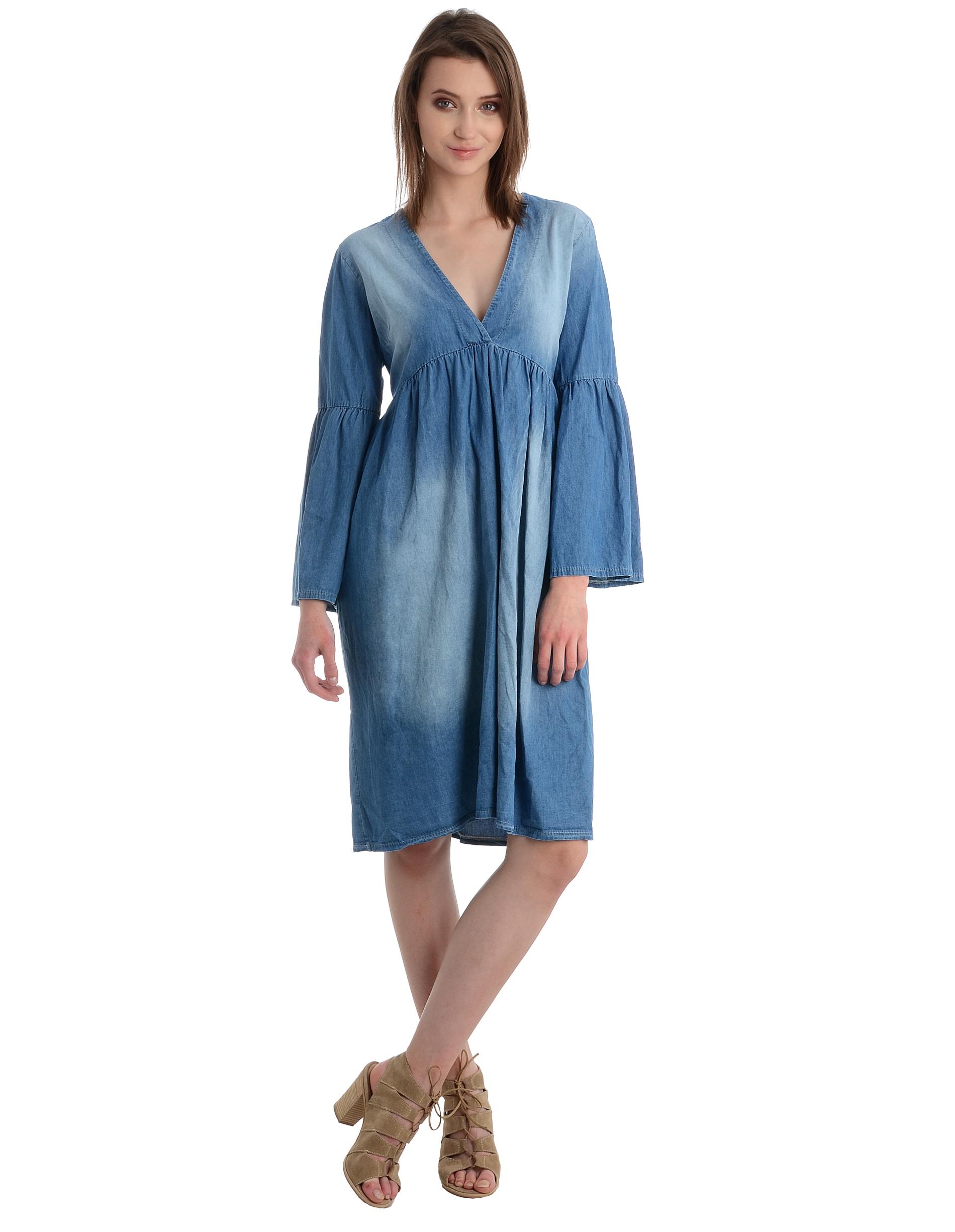 Sukienka - 25-9543 JEANS - Unisono