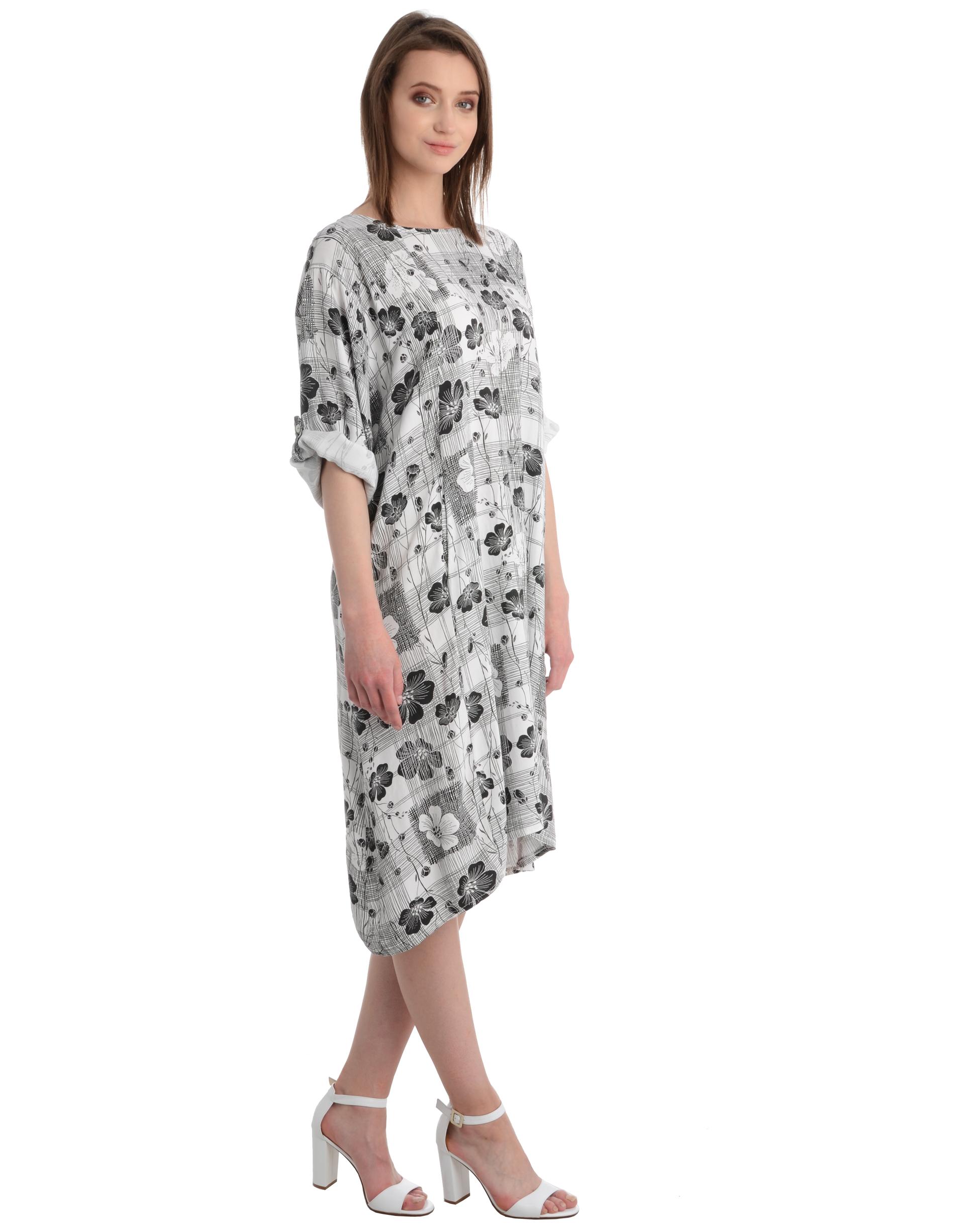 Sukienka - 75-1333 BIANC - Unisono