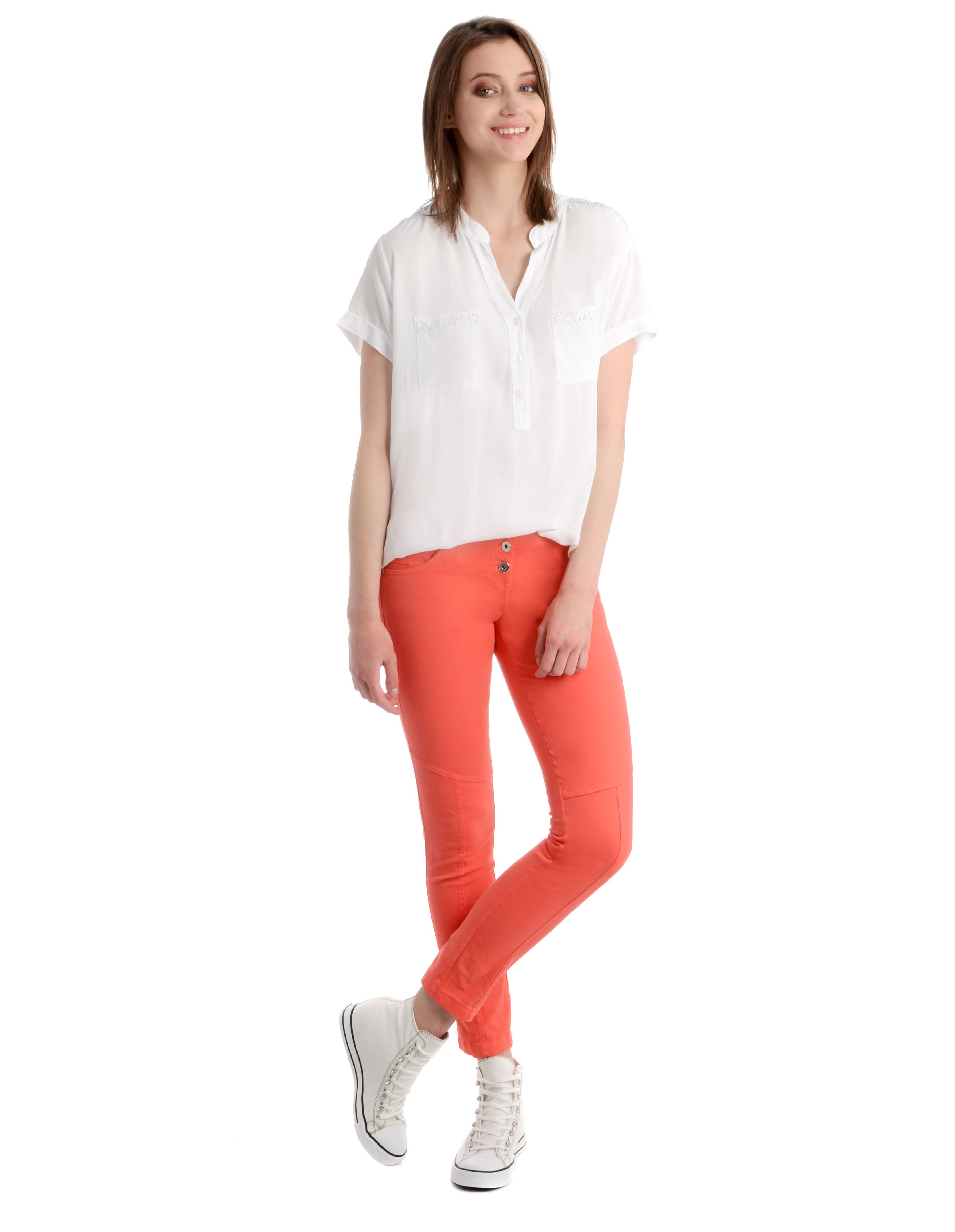 Spodnie - 34-4013 CORAL - Unisono