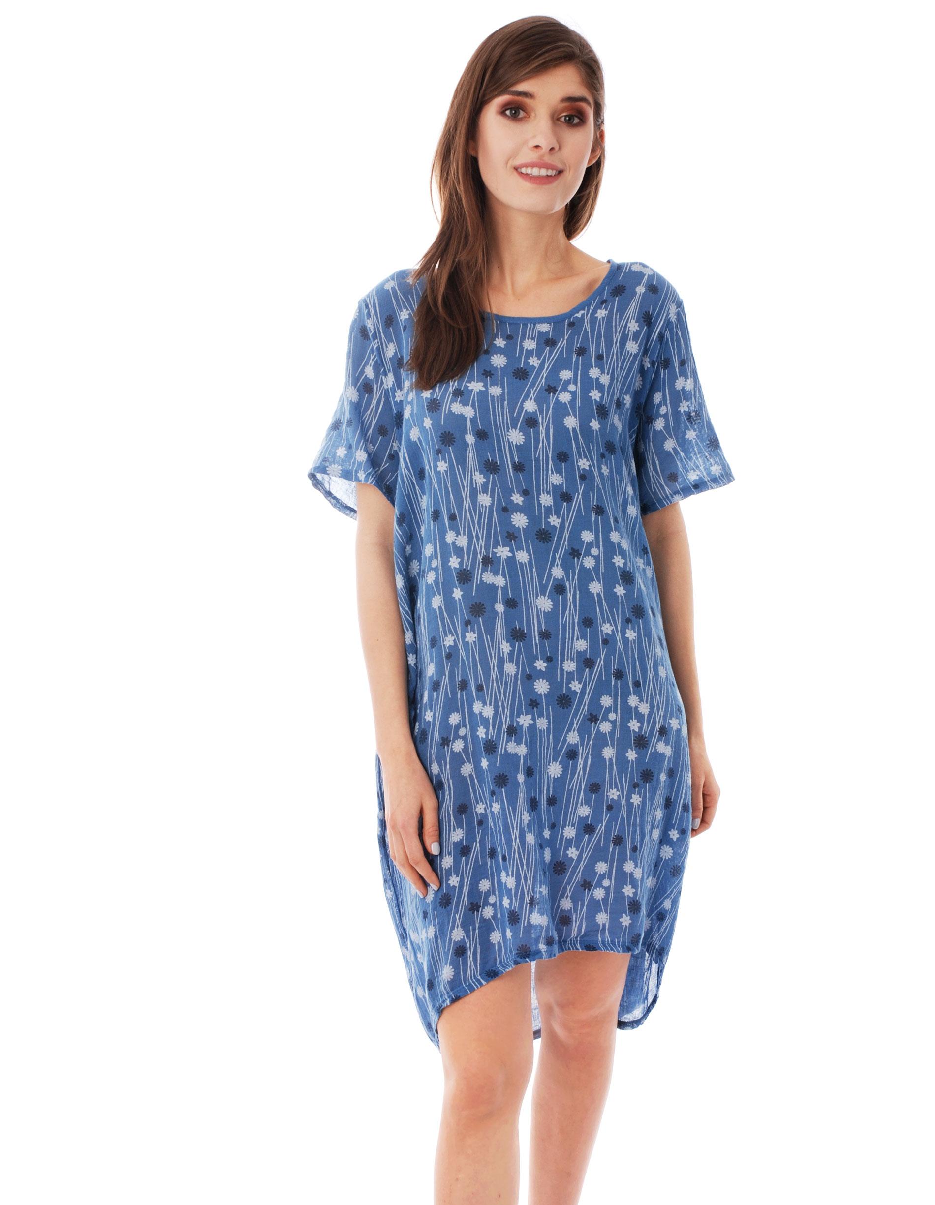 Sukienka - 77-7505 JEANS - Unisono