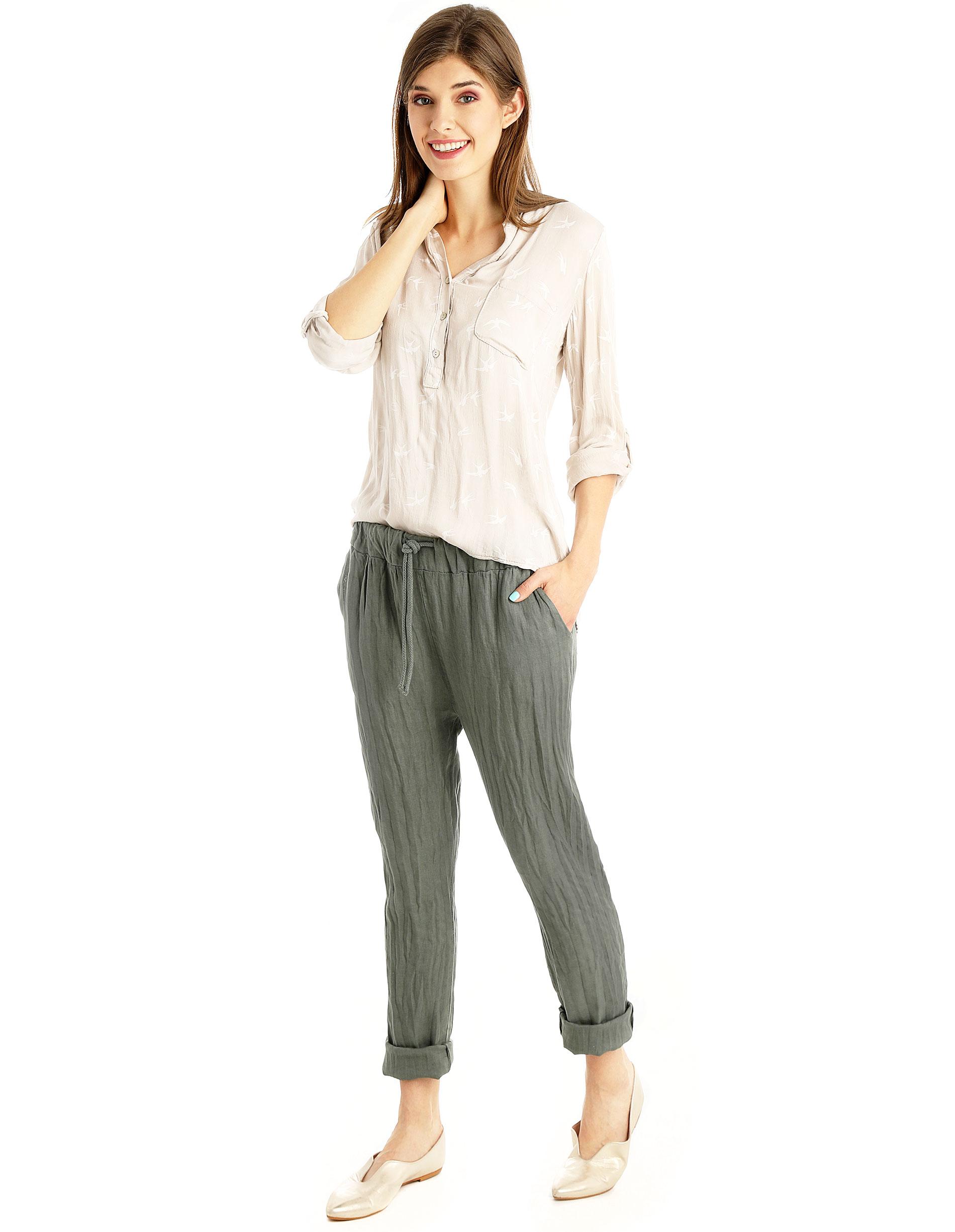 Spodnie - 122-7716 MILI - Unisono