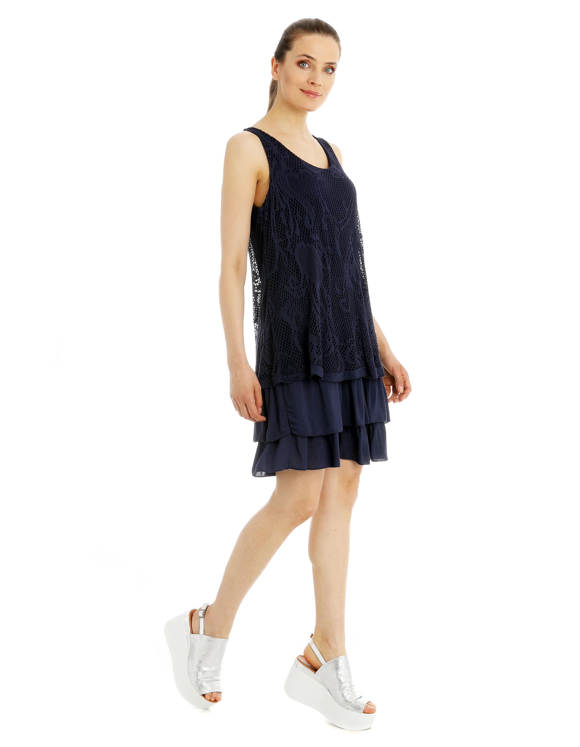 Sukienka - 15-0002 BLU - Unisono