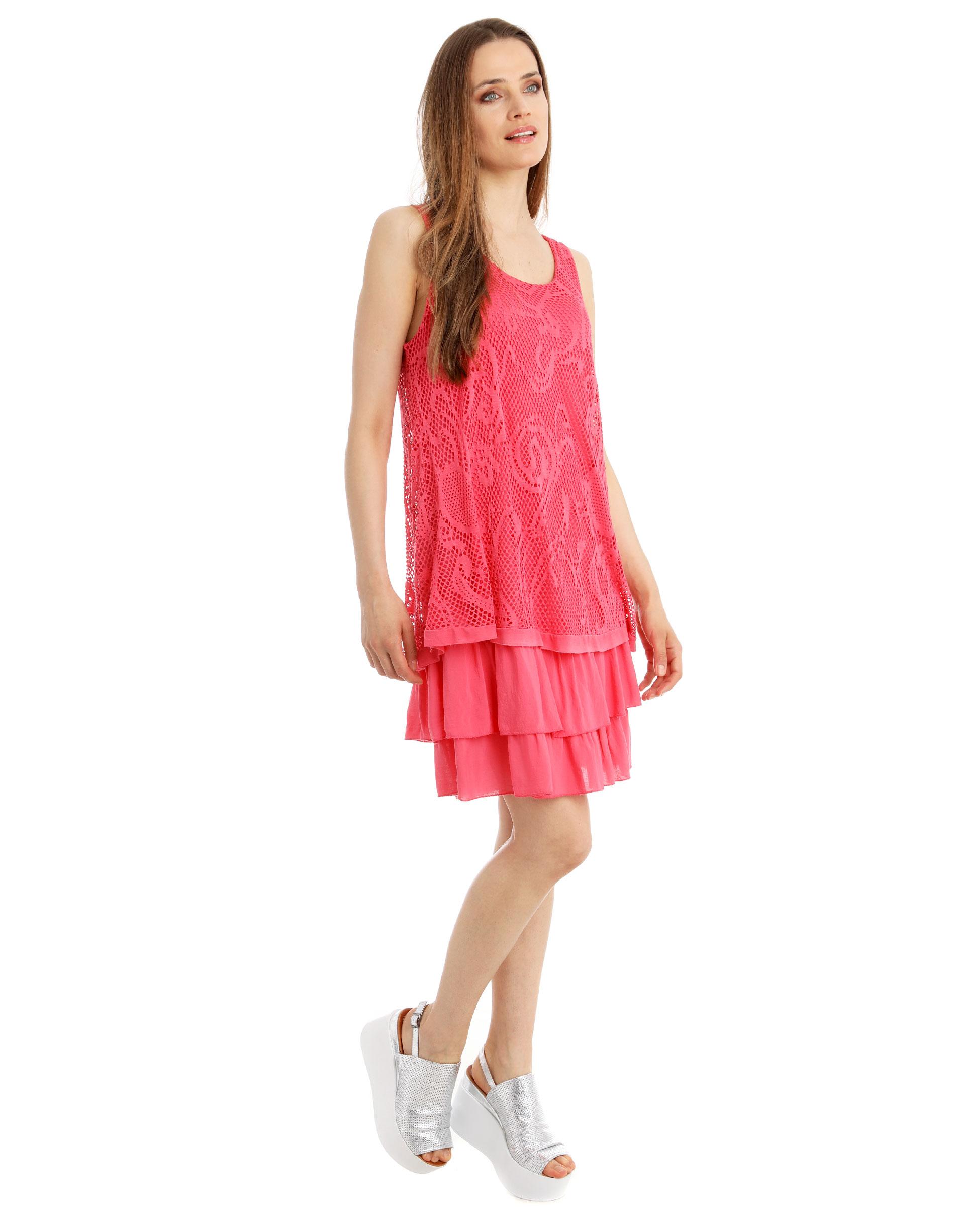 Sukienka - 15-0002 FUXIA - Unisono