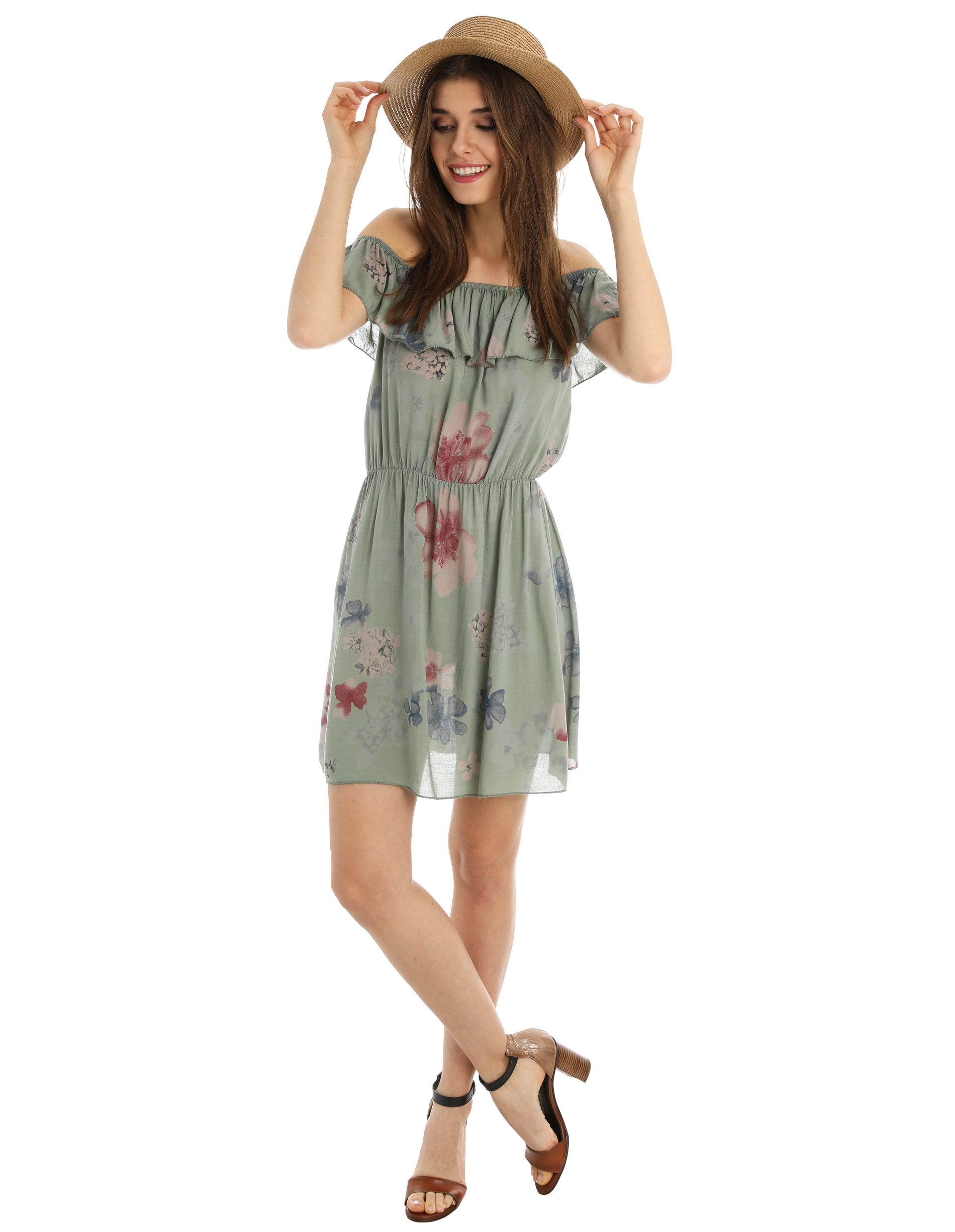 Sukienka - 36-8611 MILIT - Unisono