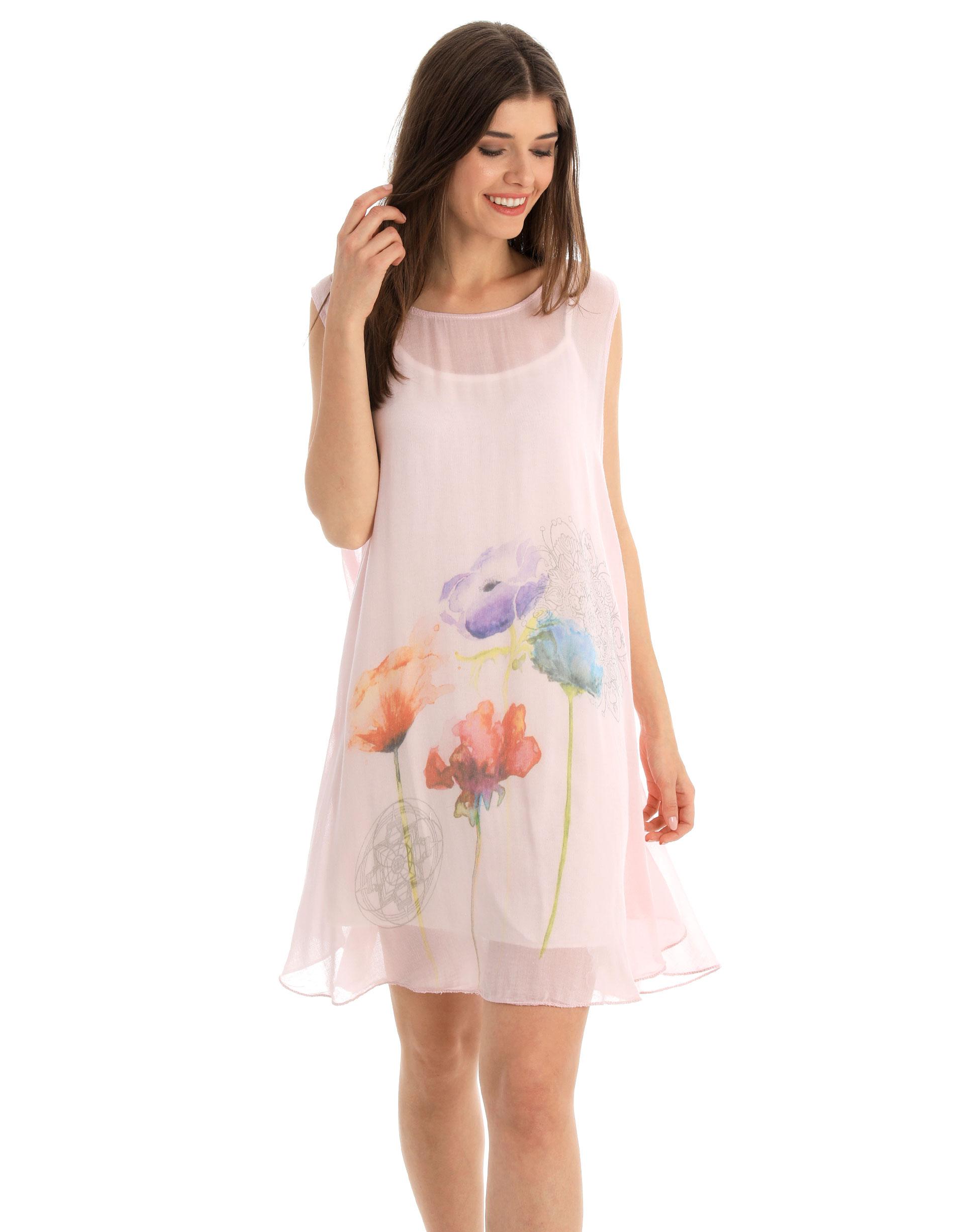 Sukienka - 32-B710 ROSA - Unisono