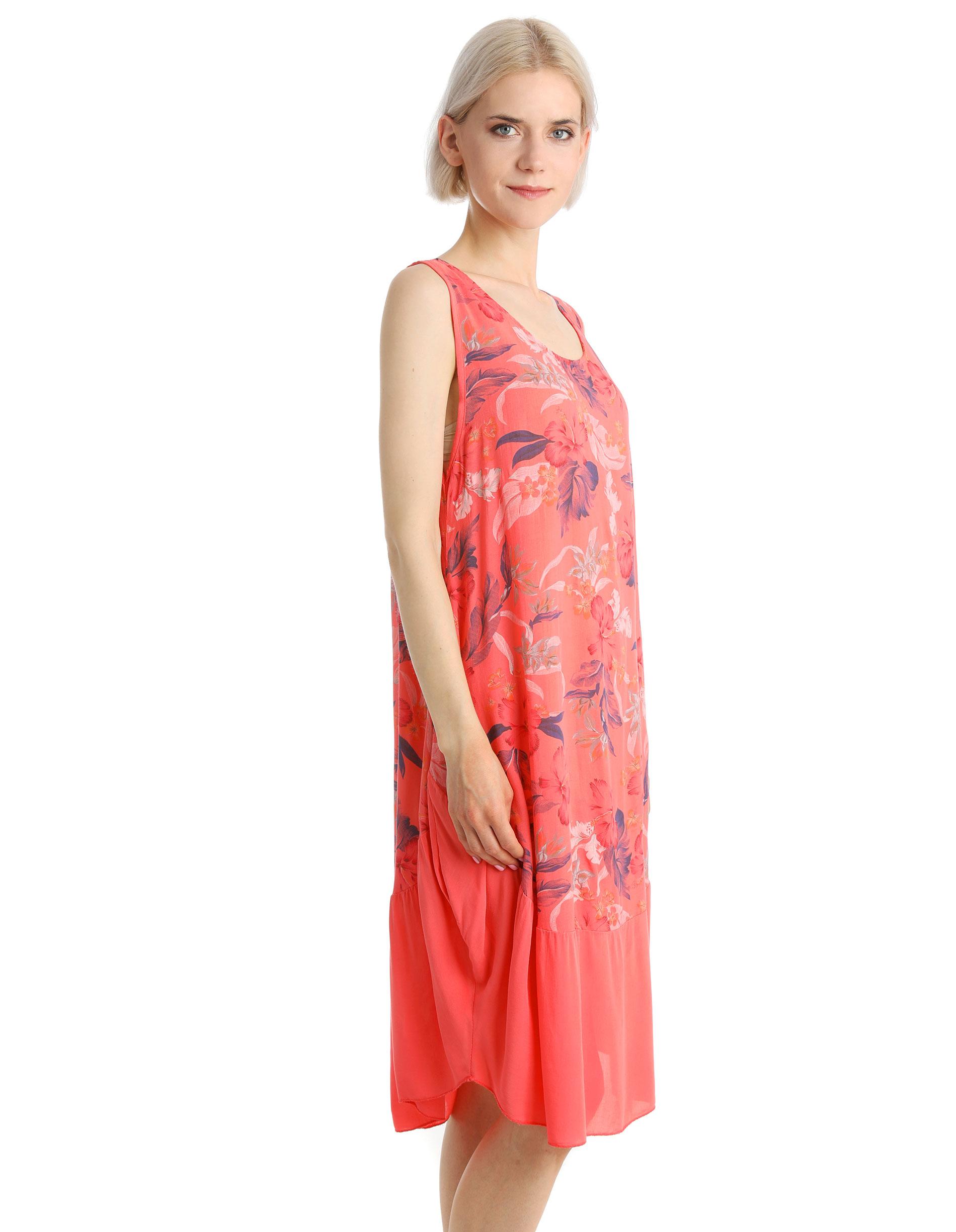 Sukienka - 15-2902 CORAL - Unisono