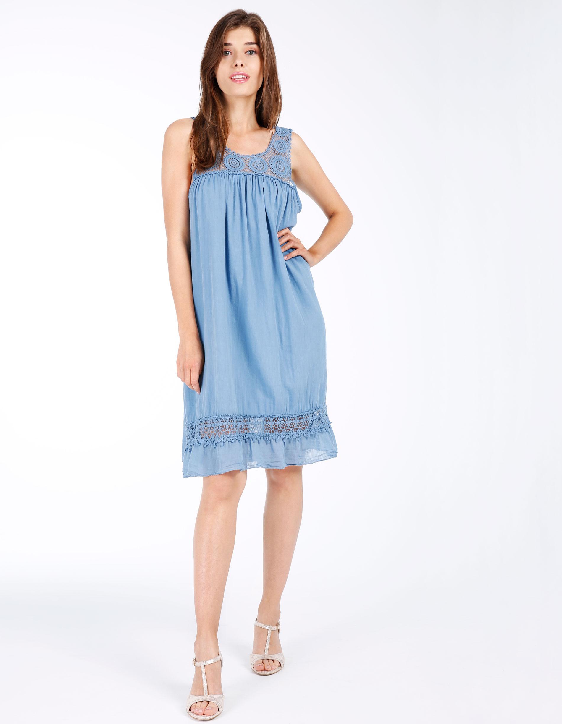Sukienka - 15-2884 JEANS - Unisono