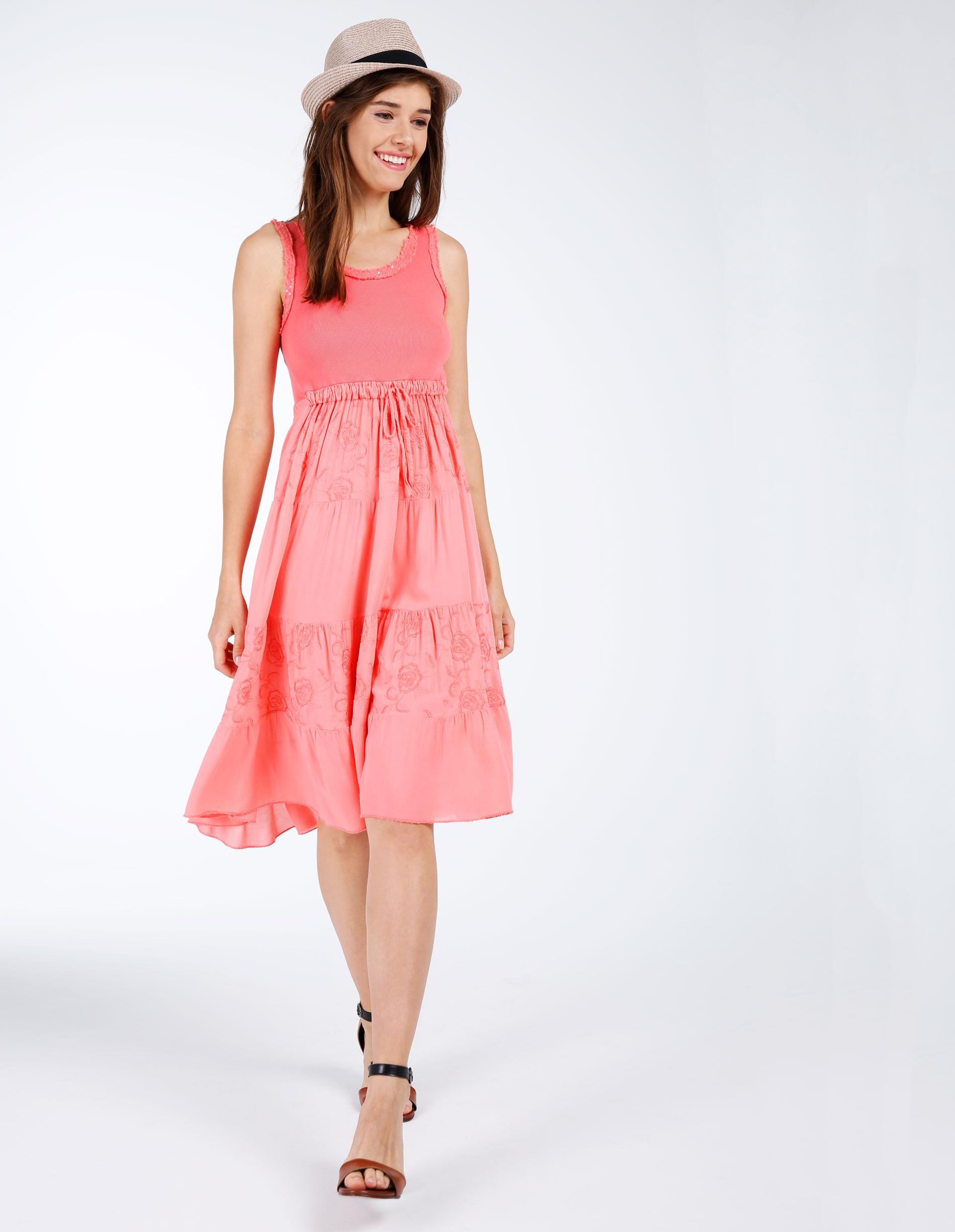 Sukienka - 36-8618 CORAL - Unisono
