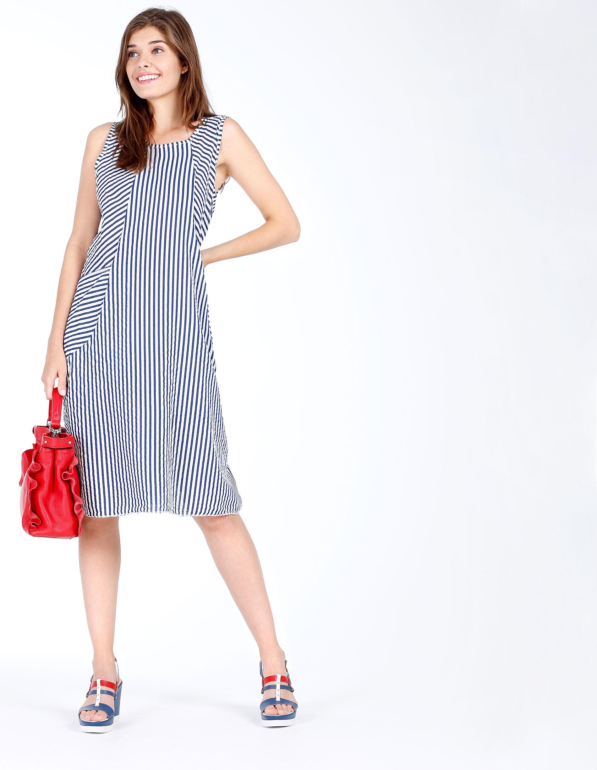 Sukienka - 62-6419 BI-BL - Unisono