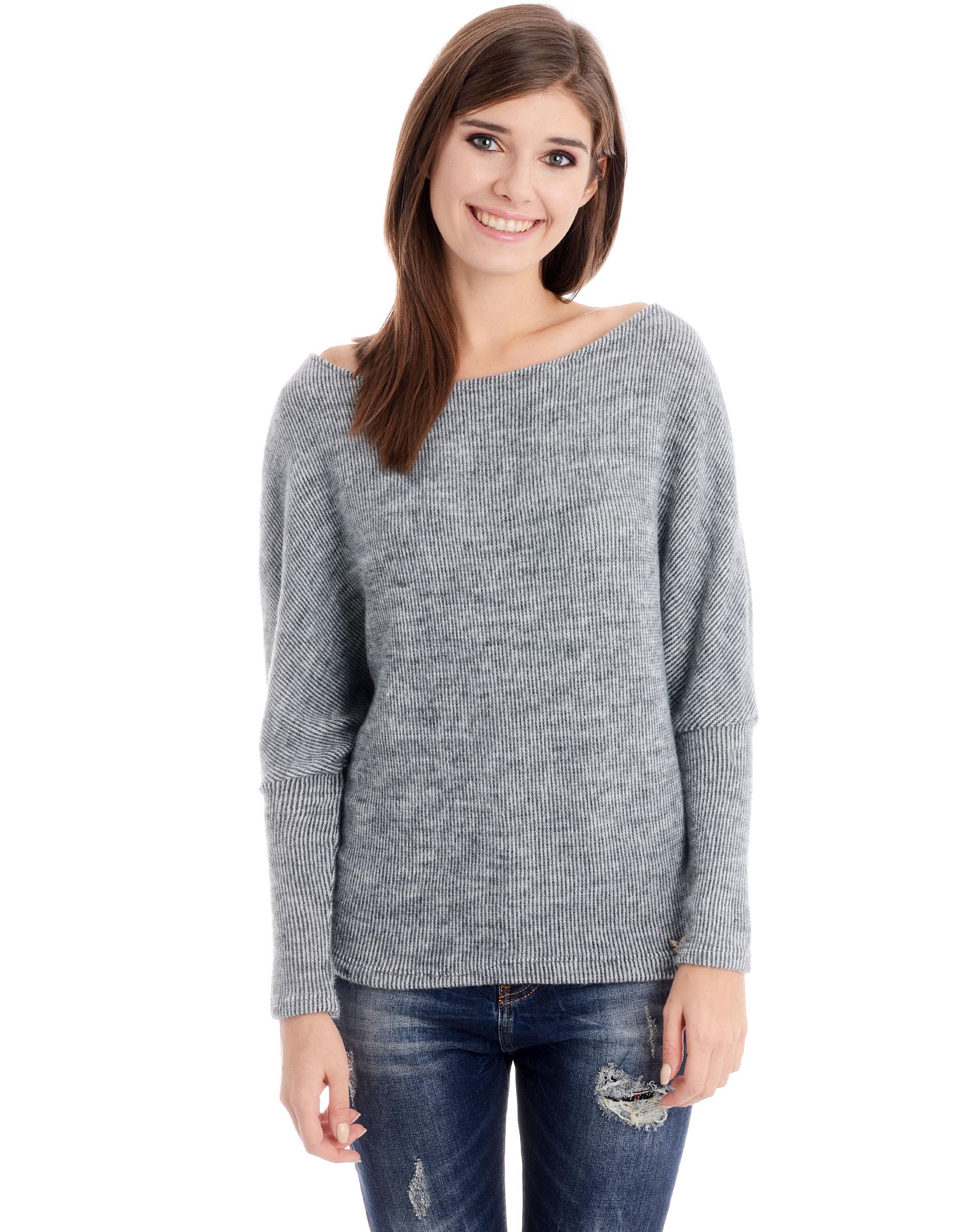 Sweter - 16-179X GR CH - Unisono