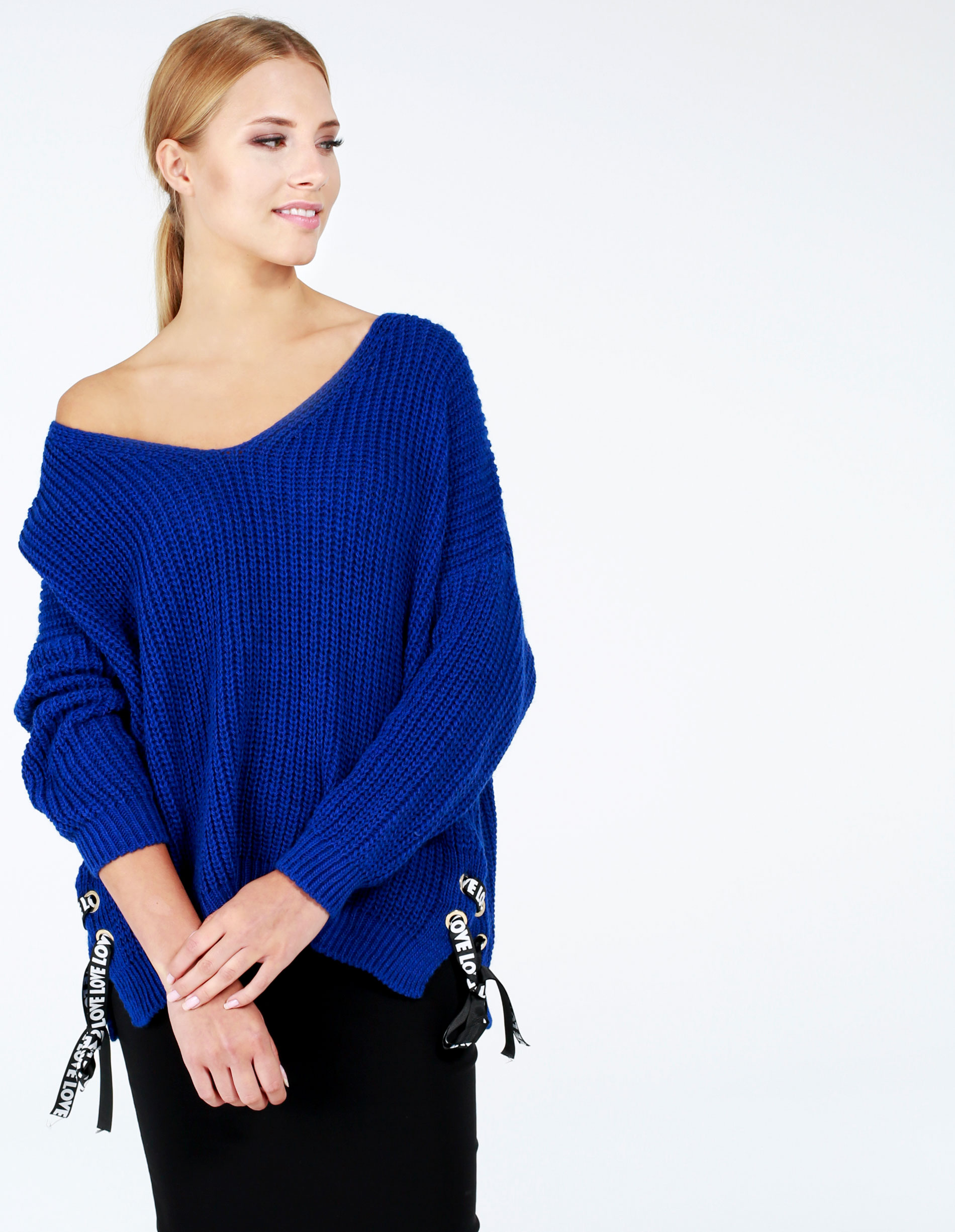 Sweter - 8-607 ROYAL - Unisono