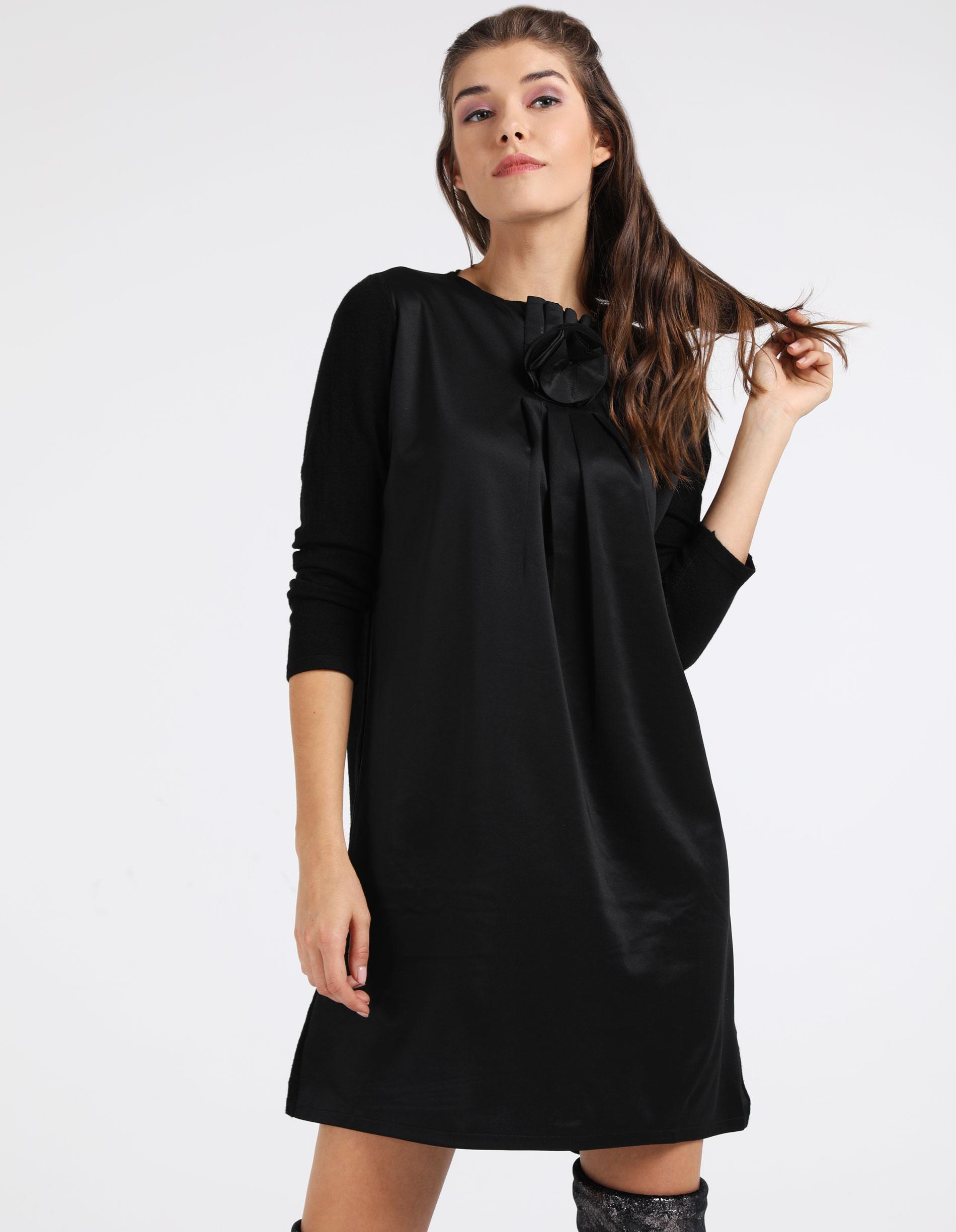 Sukienka - 78-0592 NERO - Unisono