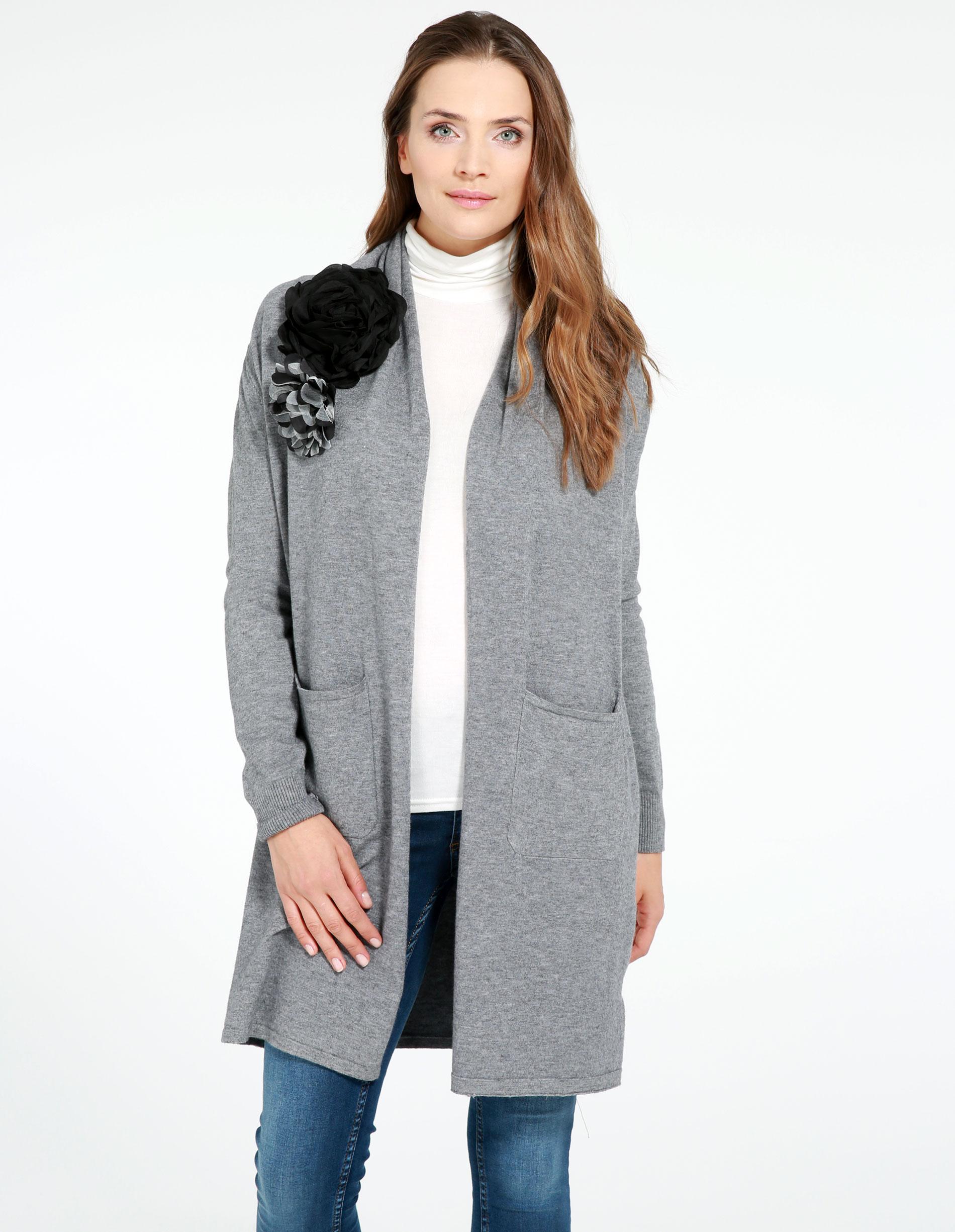 Sweter - 159-10247 GRI - Unisono