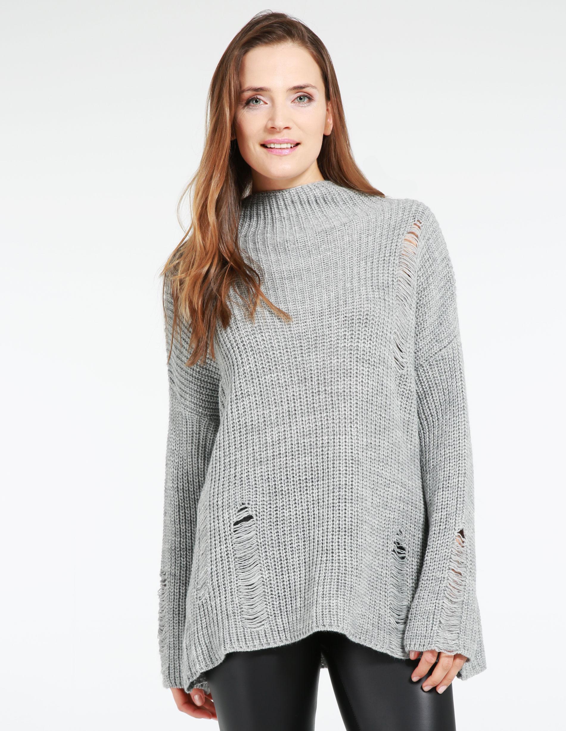 Sweter - 4-6062 GRI CH - Unisono