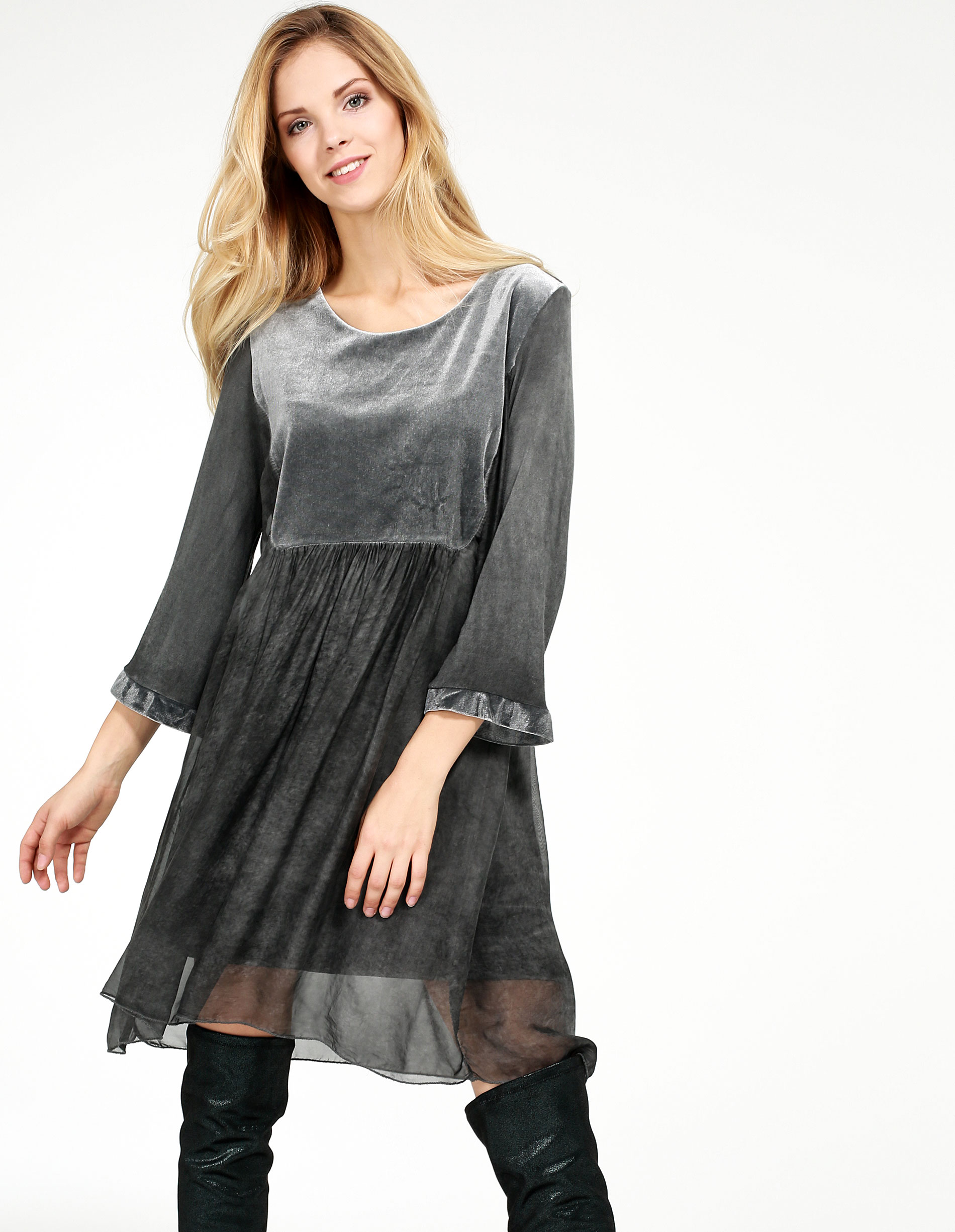 Sukienka - 160-5842 GRSC - Unisono