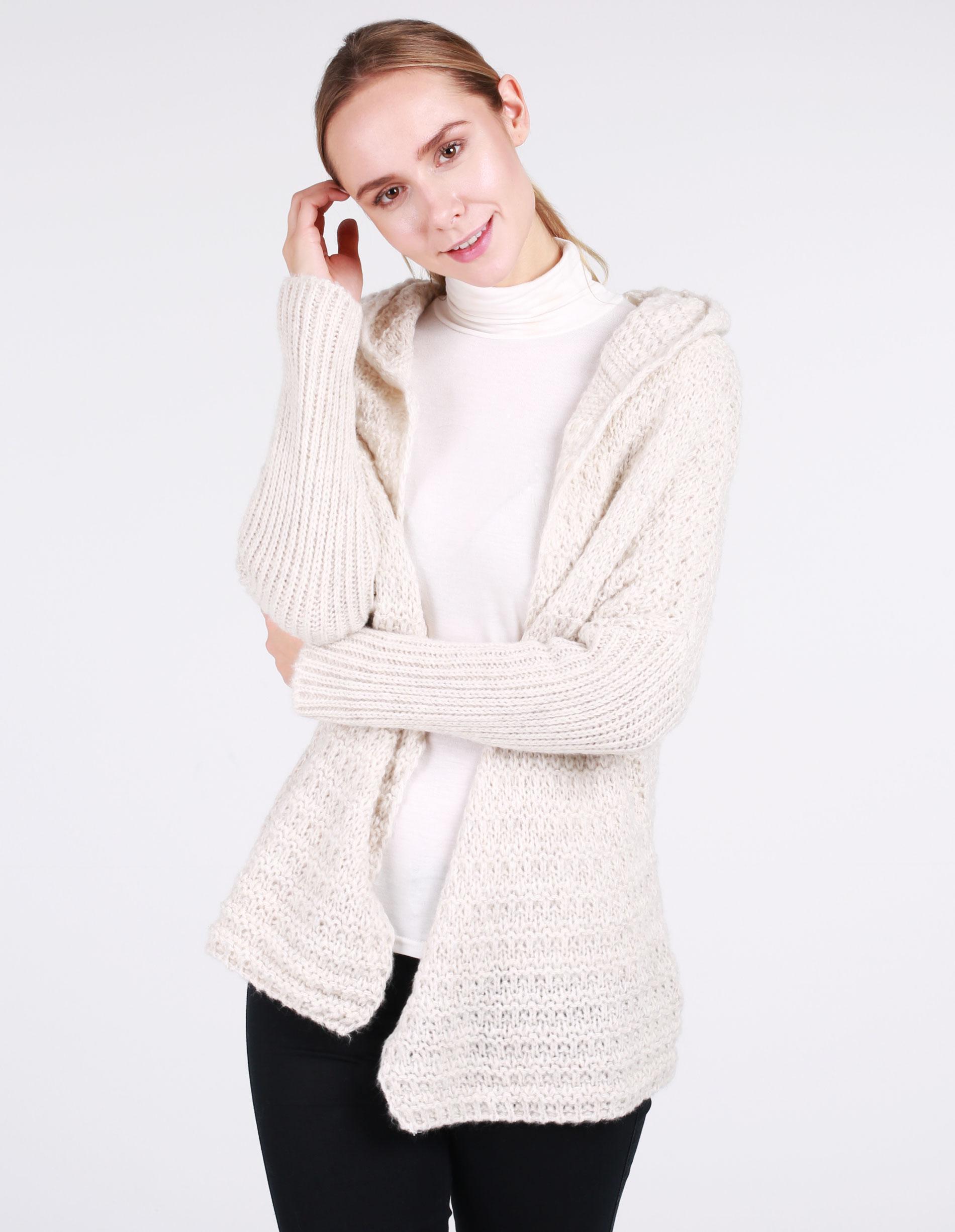 Sweter - 8-818 SABBIA - Unisono