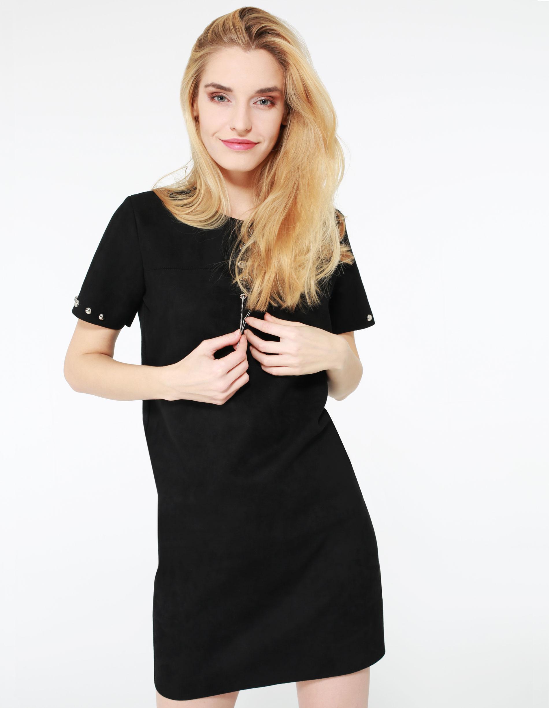 Sukienka - 78-9500 NERO - Unisono