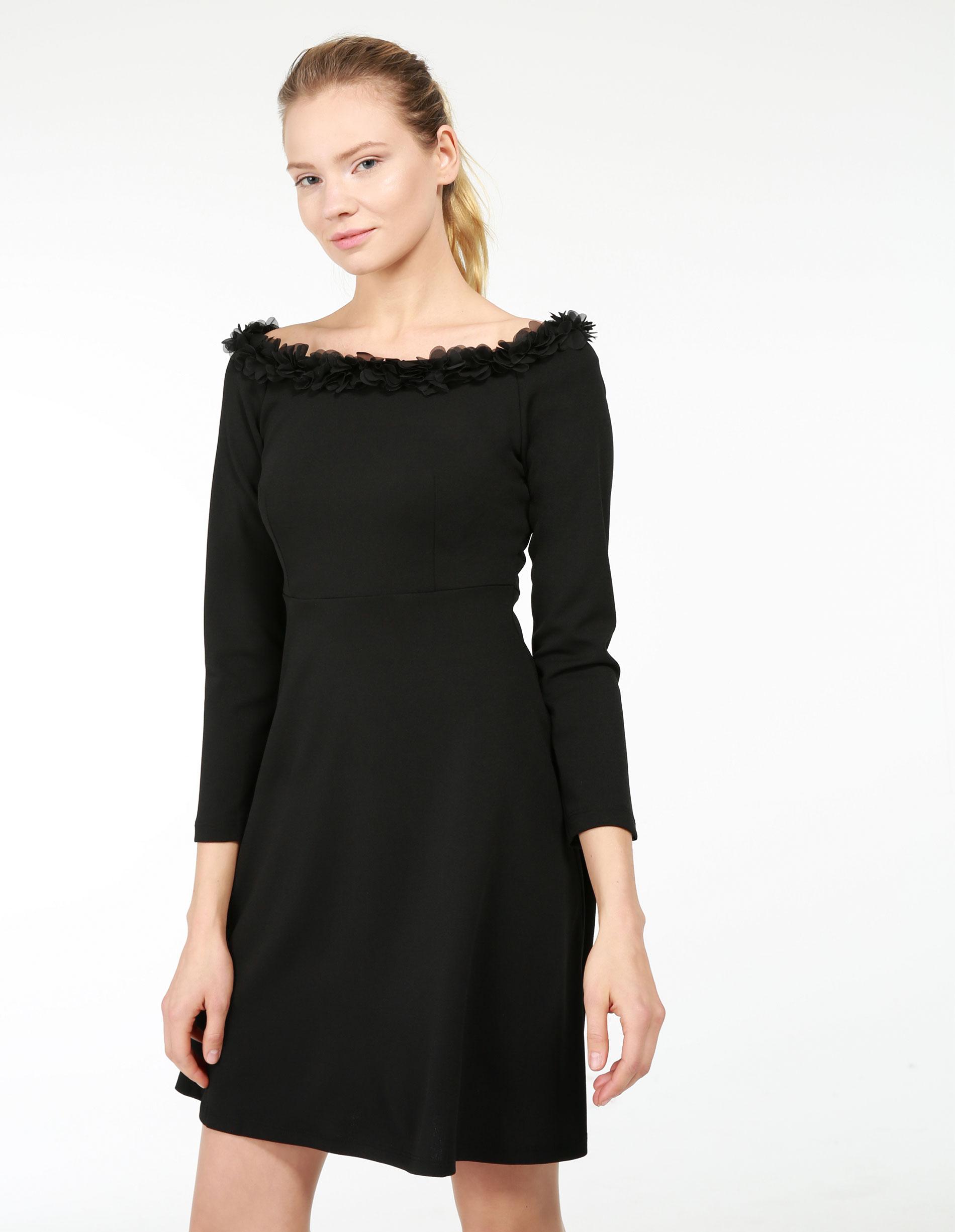 Sukienka - 46-23044 NERO - Unisono