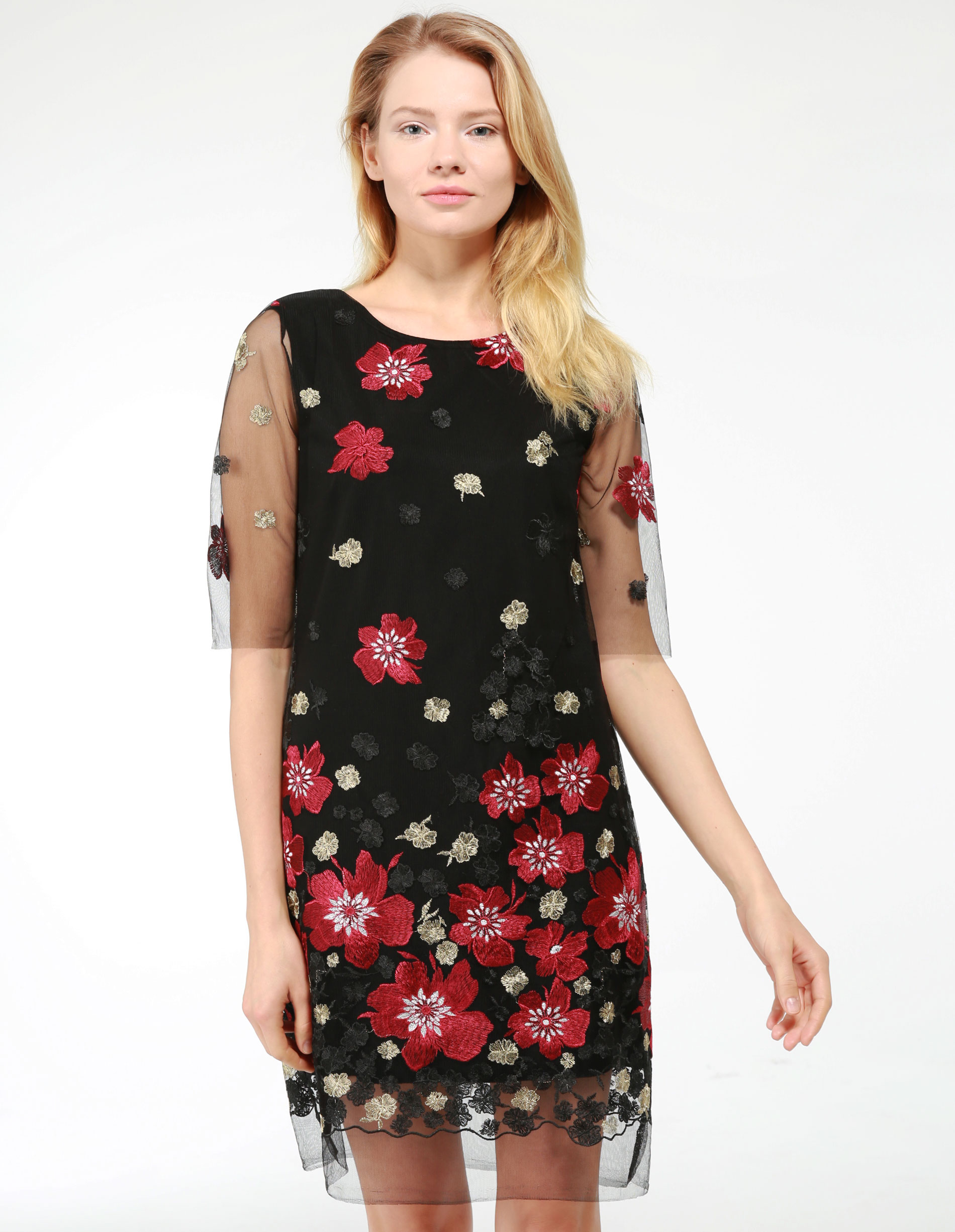 Sukienka - 46-2980 NERO - Unisono