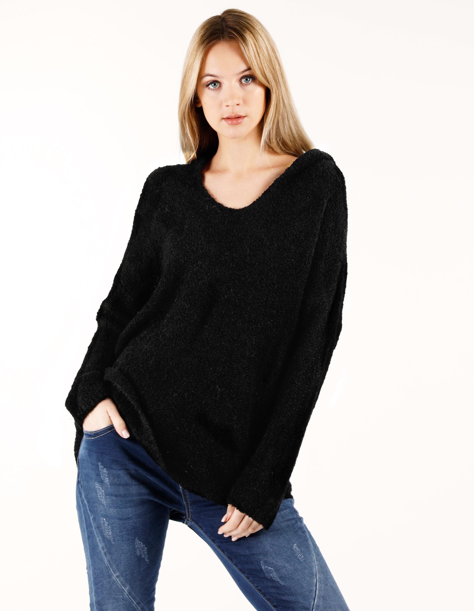 Sweter - 172-7053 NERO - Unisono