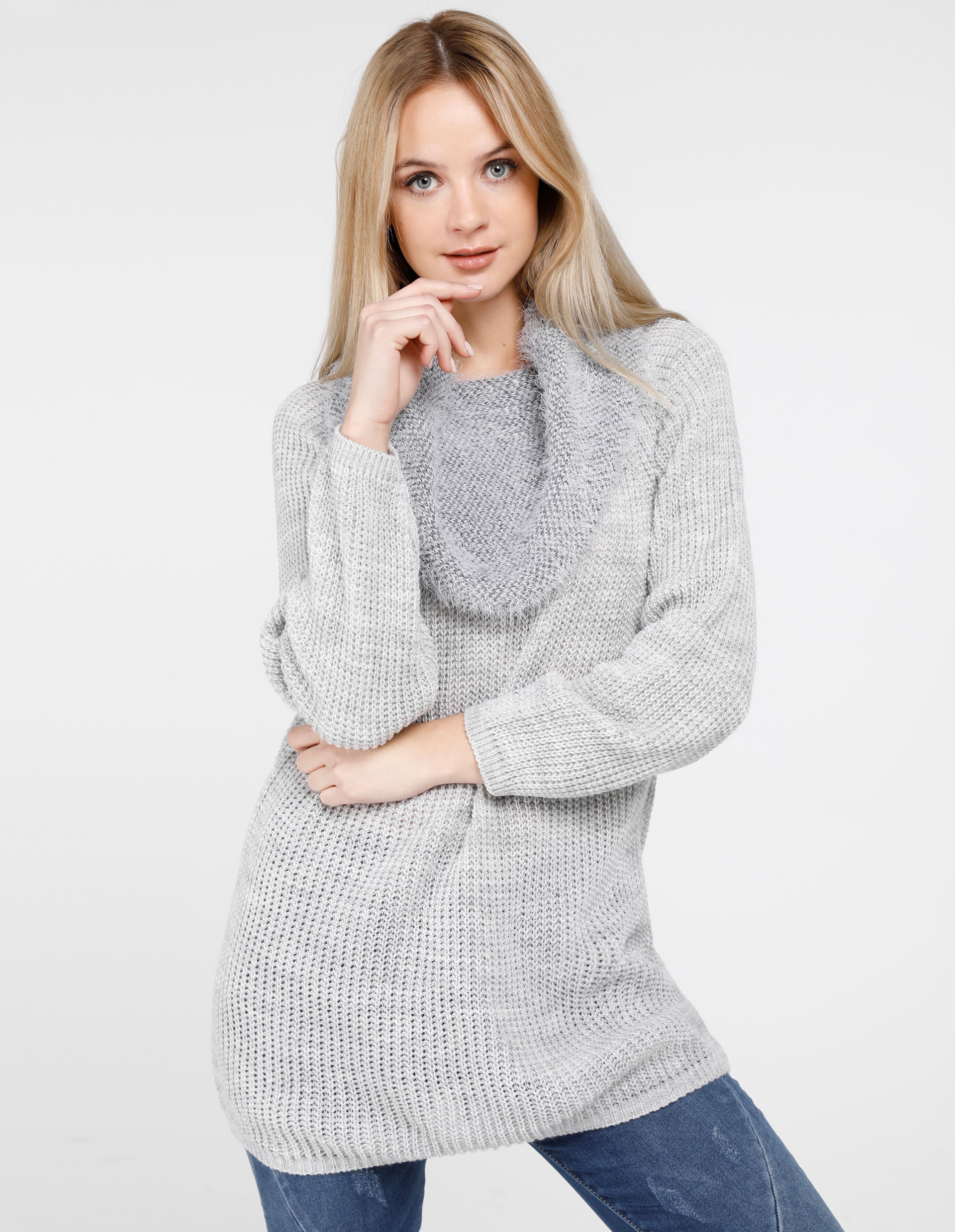 Sweter - 167-288 GR CH - Unisono