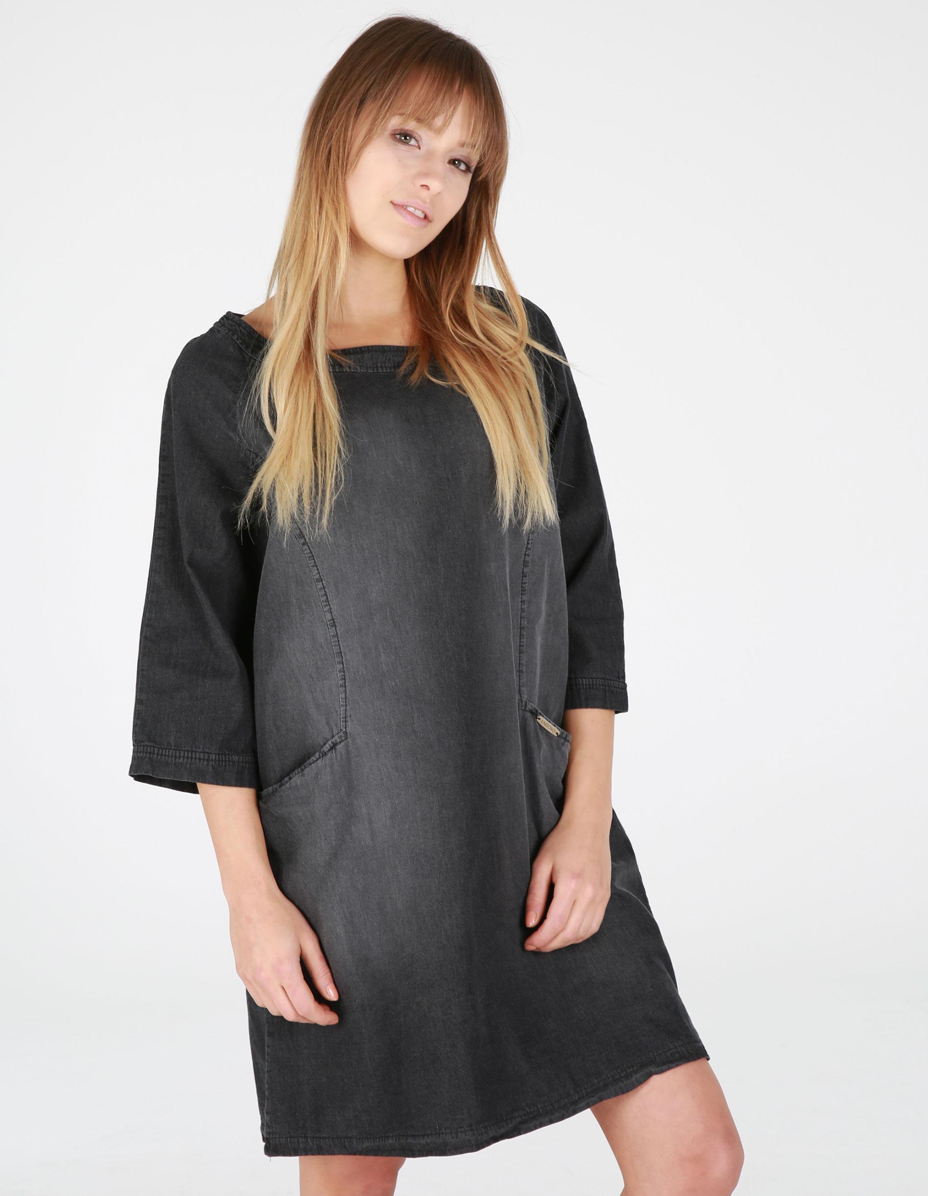 Sukienka - 77-8237 NERO - Unisono