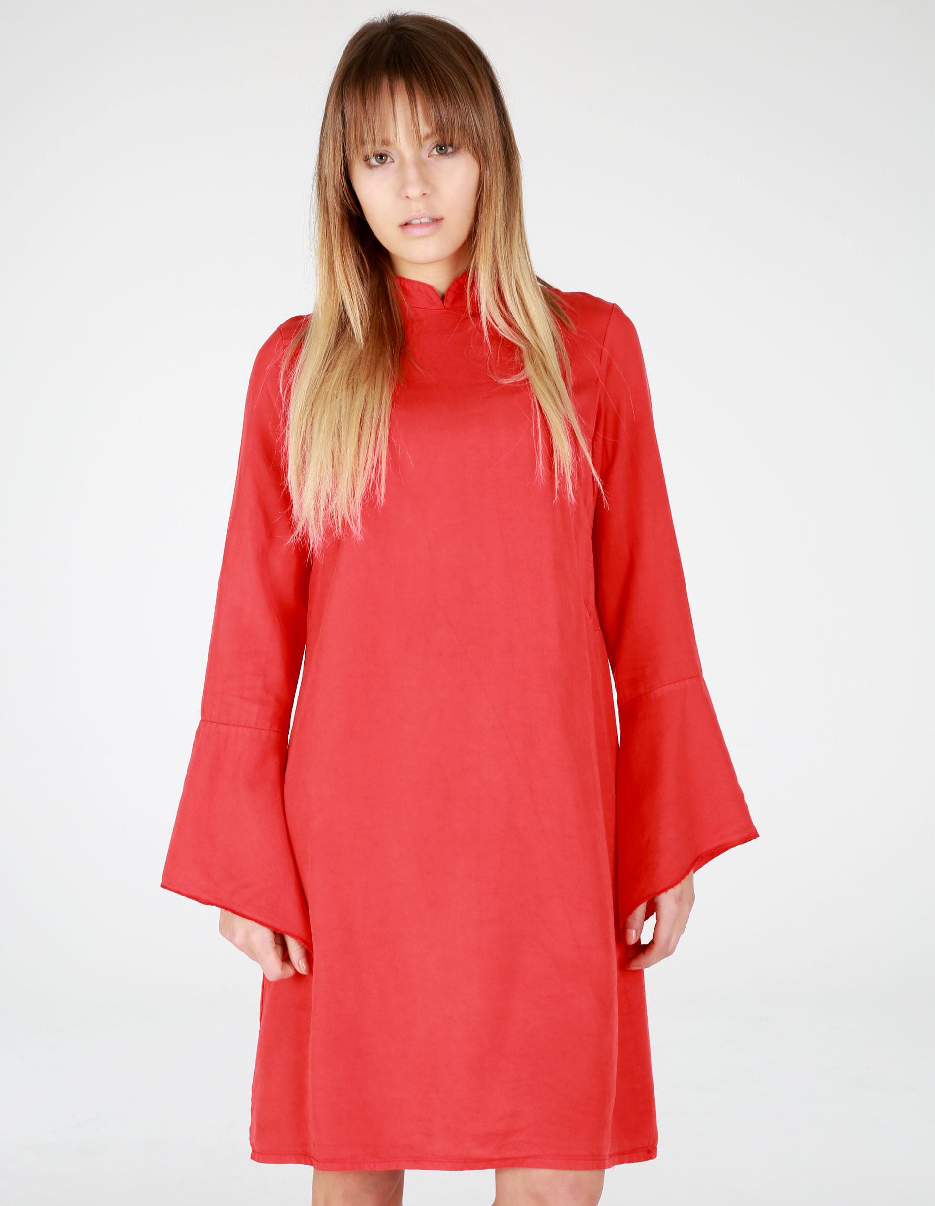 Sukienka - 16-0143 ROSSO - Unisono
