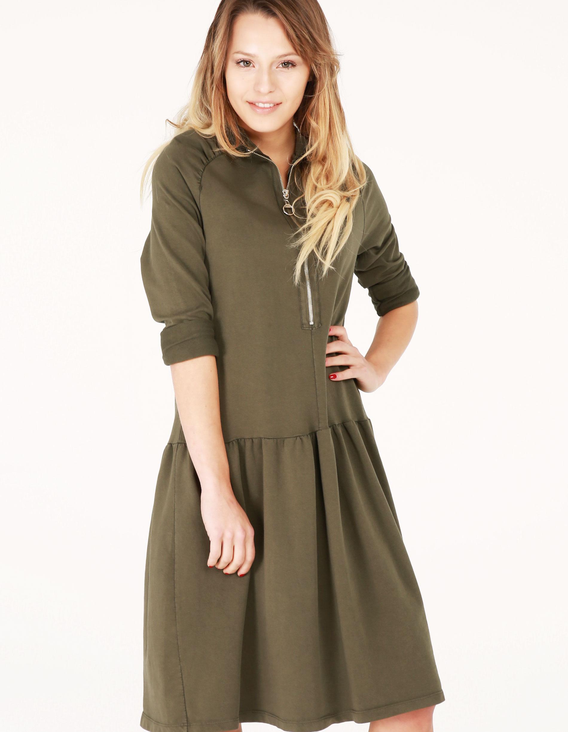 Sukienka - 102-867 MILIT - Unisono