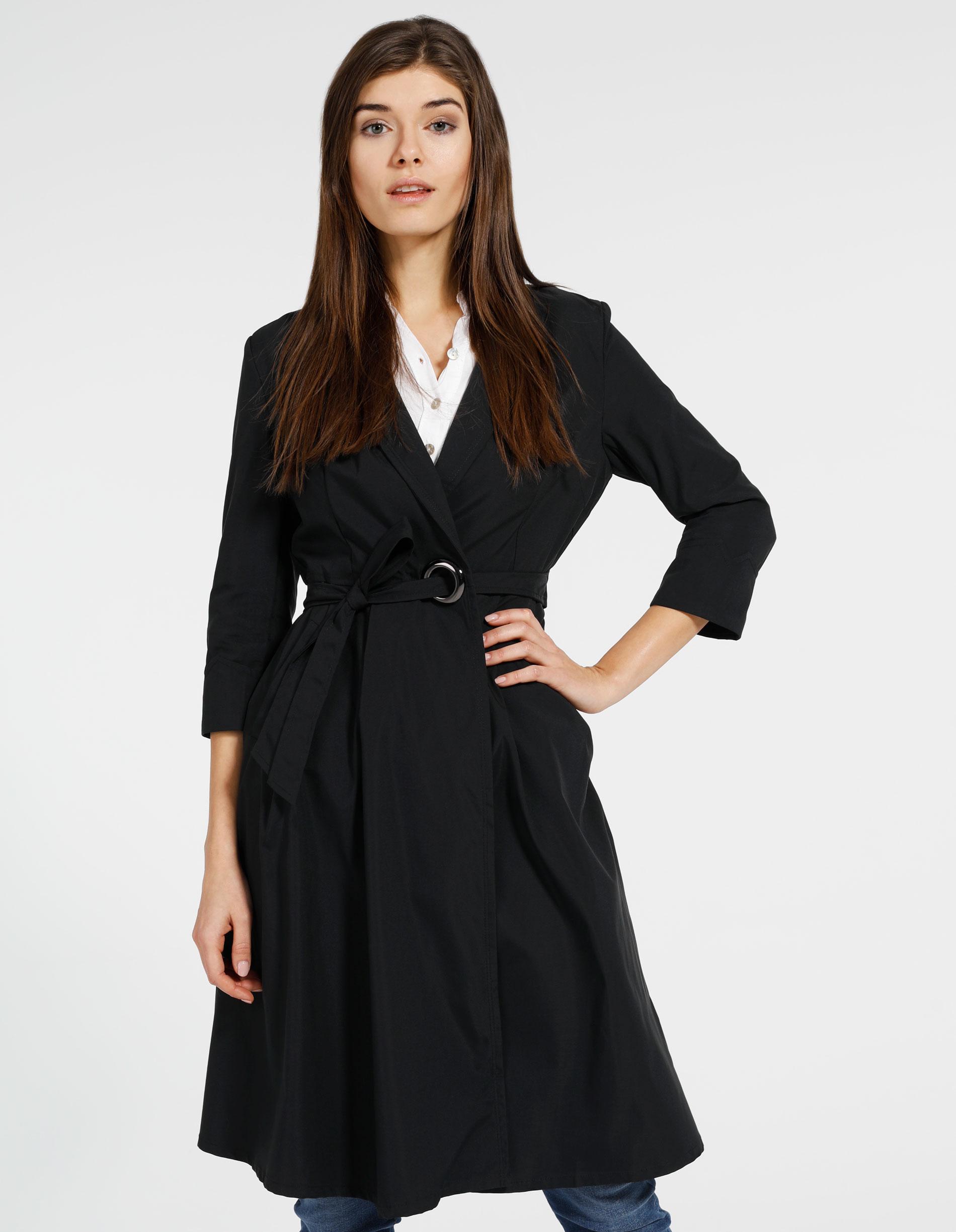 Płaszcz materiałowy - 134-2905 NERO - Unisono