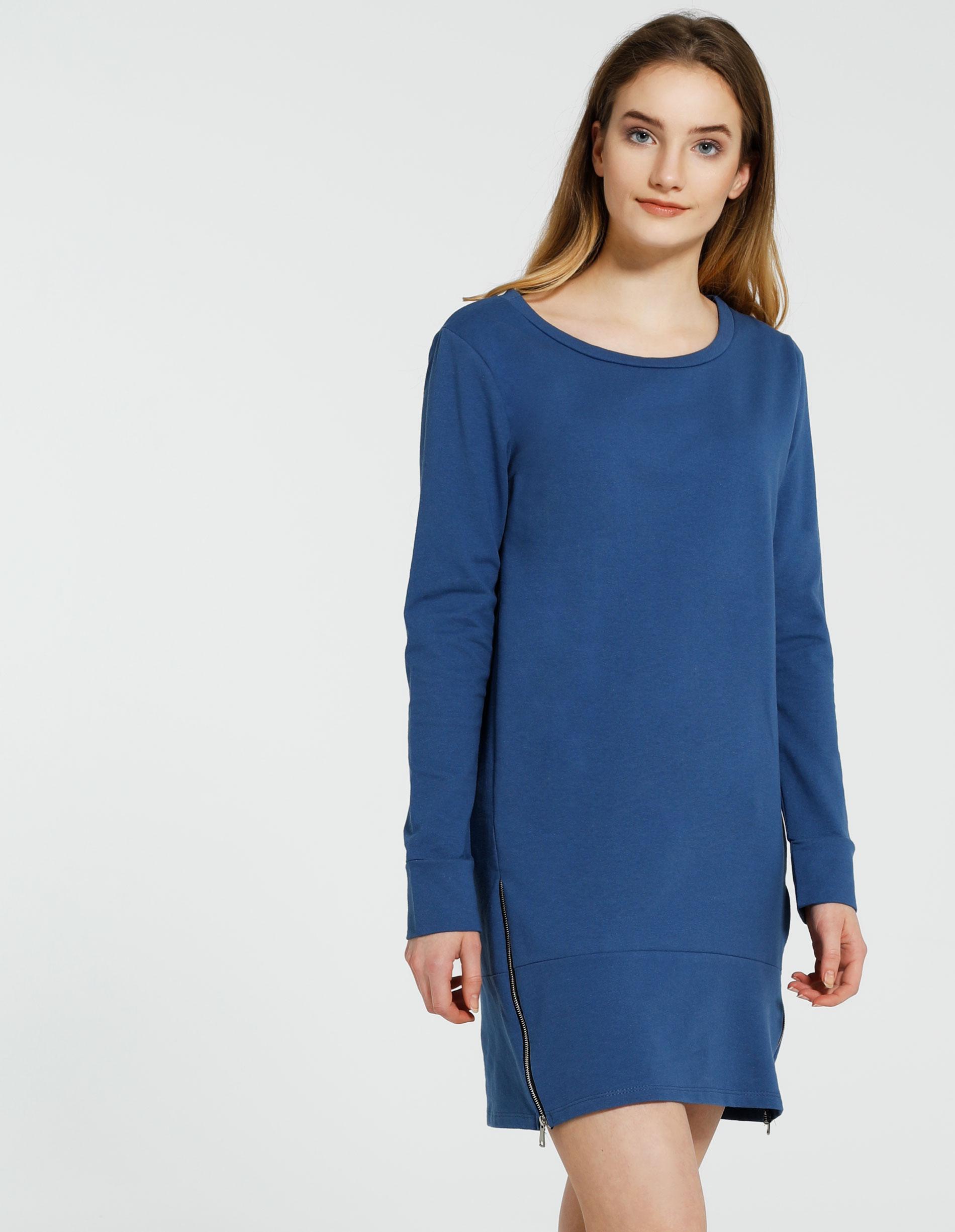 Sukienka - 118-2046 JEAN - Unisono