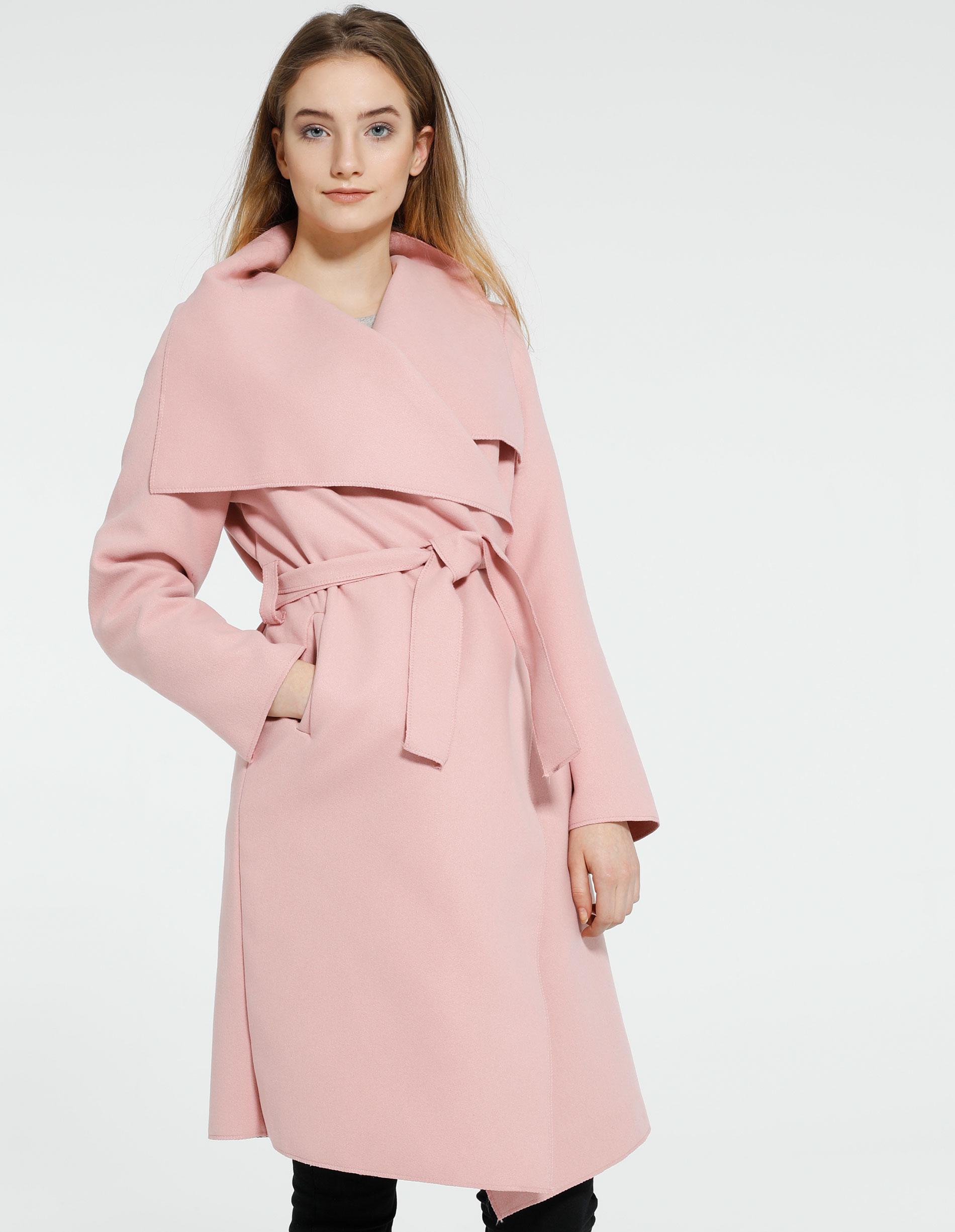Płaszcz materiałowy - 65-5079L ROSA - Unisono