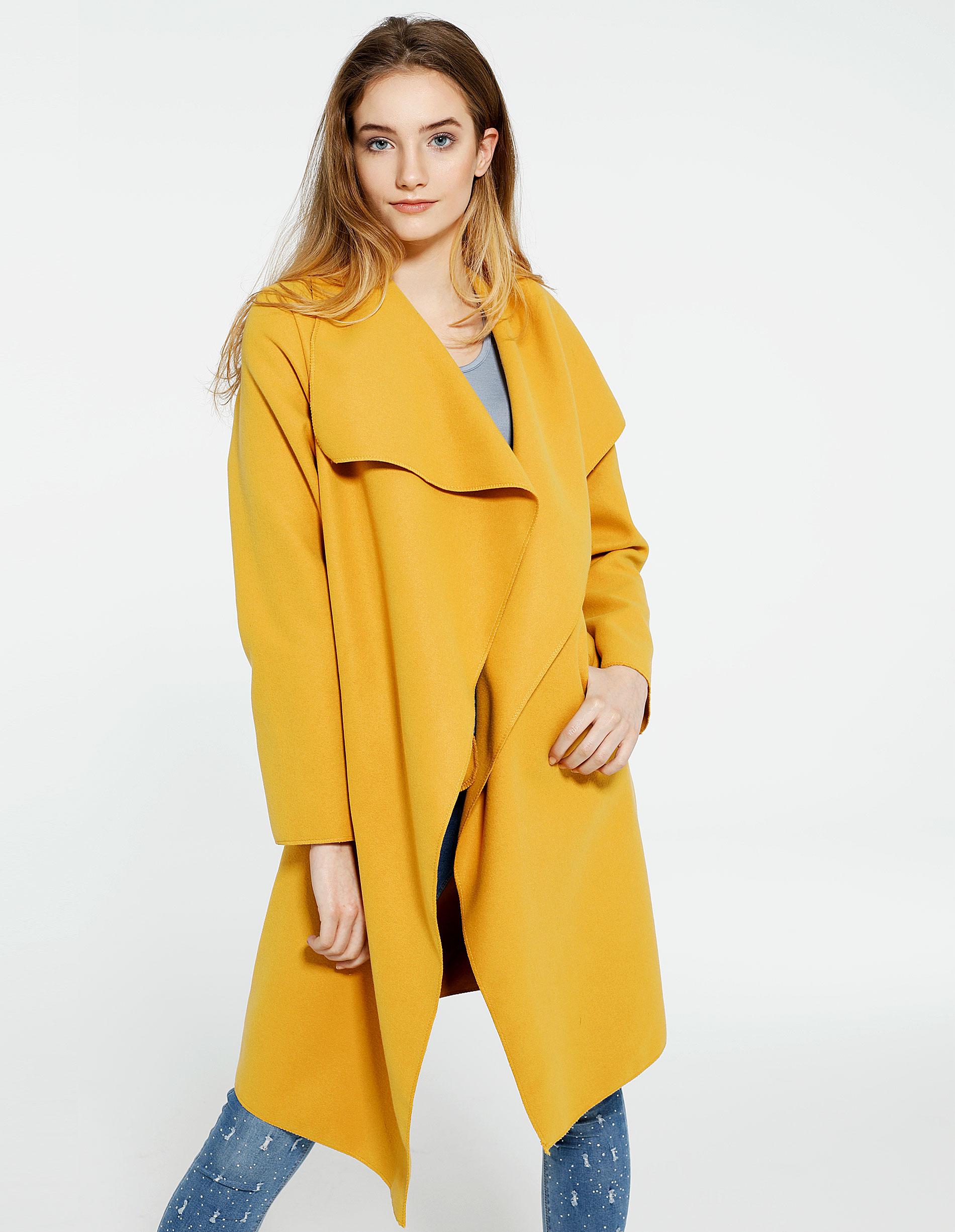 Płaszcz materiałowy - 65-5079L SENA - Unisono