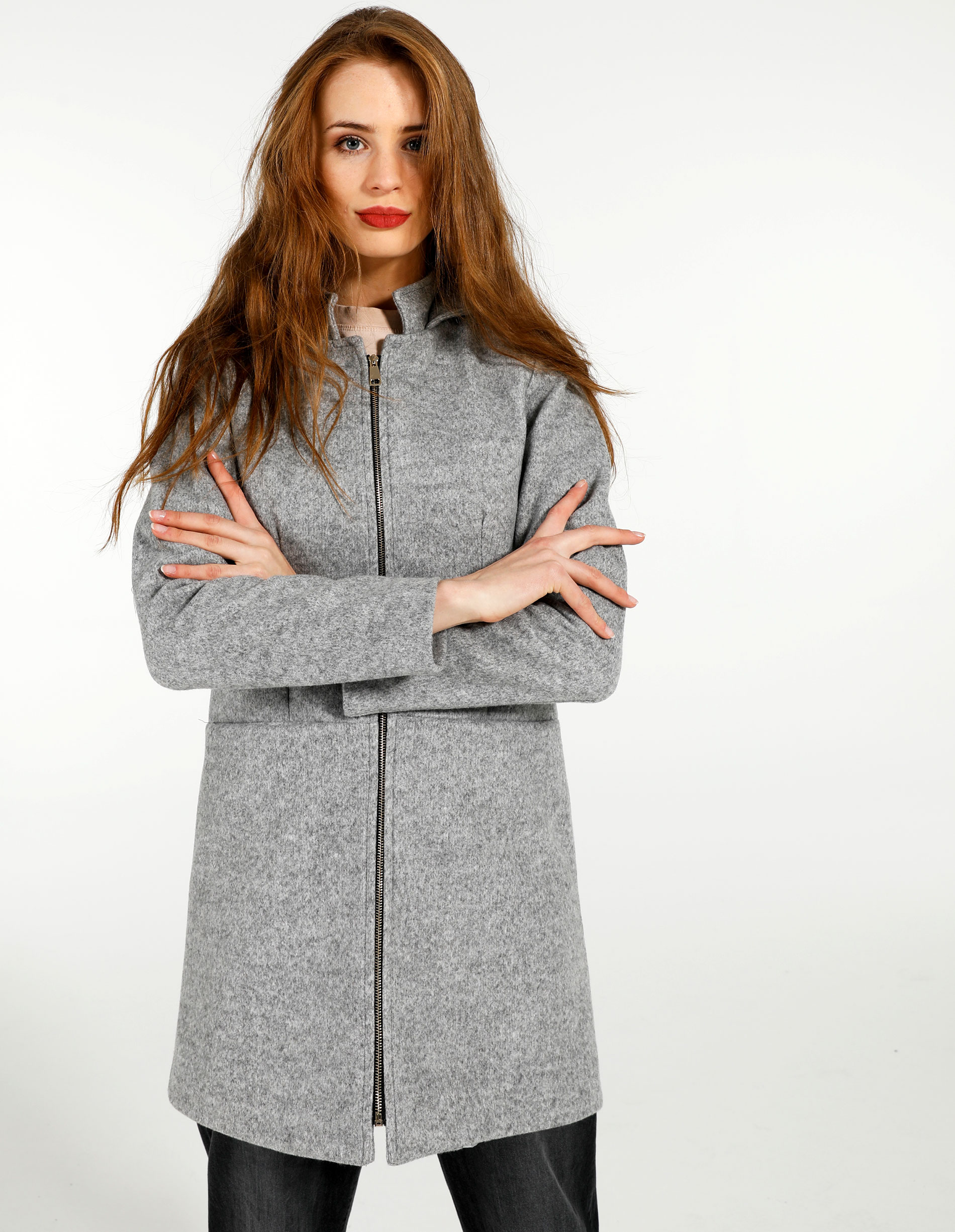 Płaszcz materiałowy - 140-0561 GRCH - Unisono