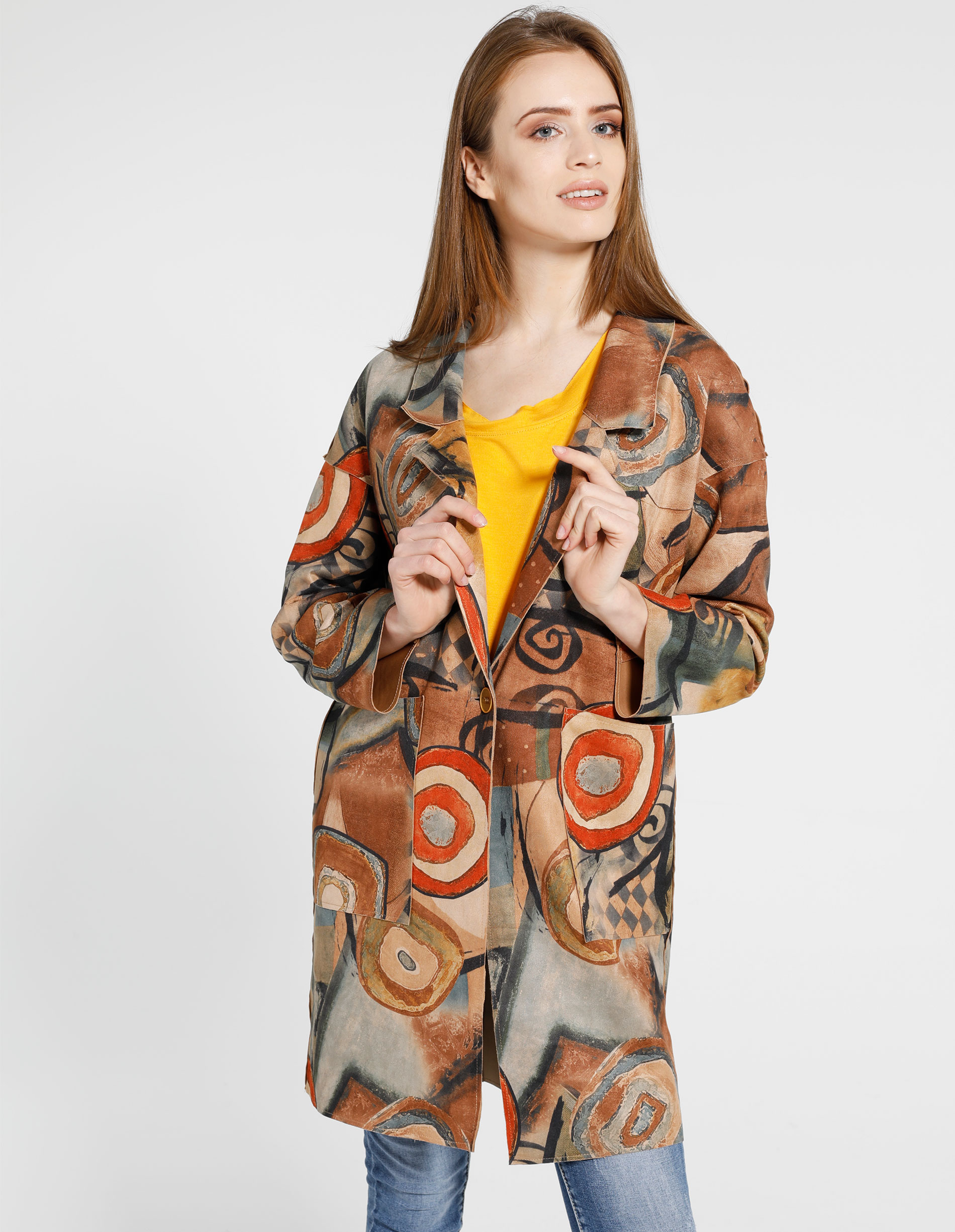 Płaszcz materiałowy - 88-251602 CAM - Unisono