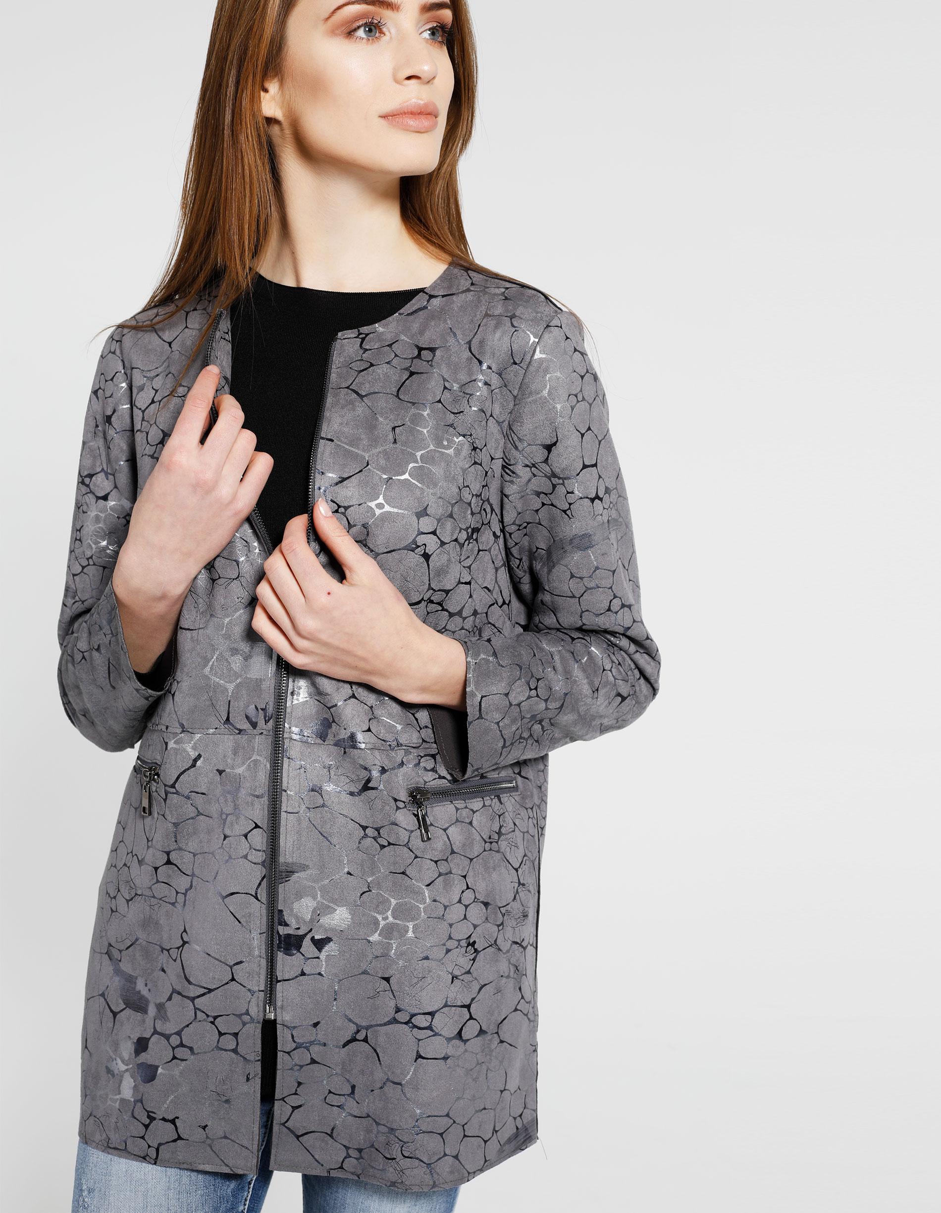 Płaszcz materiałowy - 88-251618 GRI - Unisono