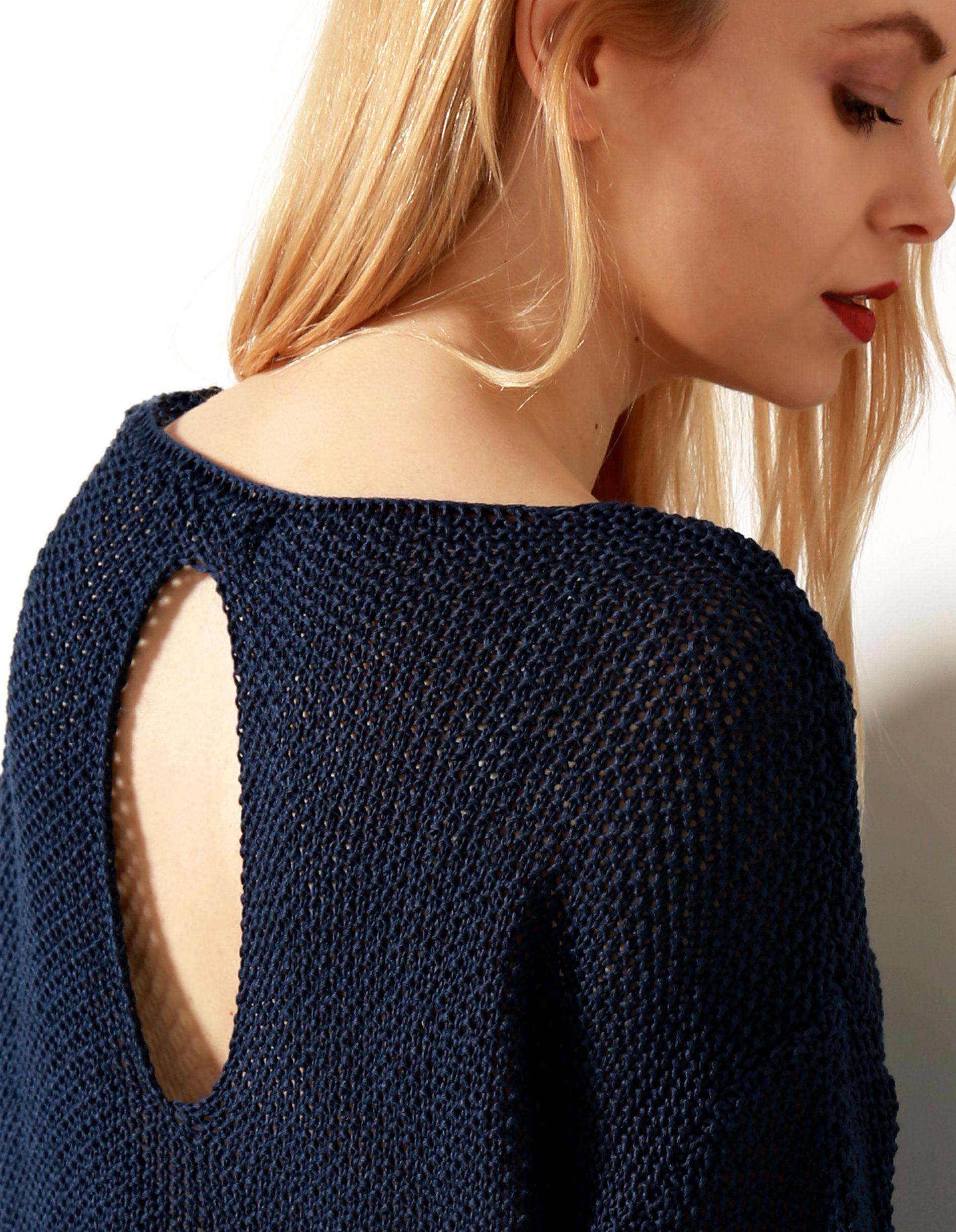 Sweter - 167-1708 BLU - Unisono