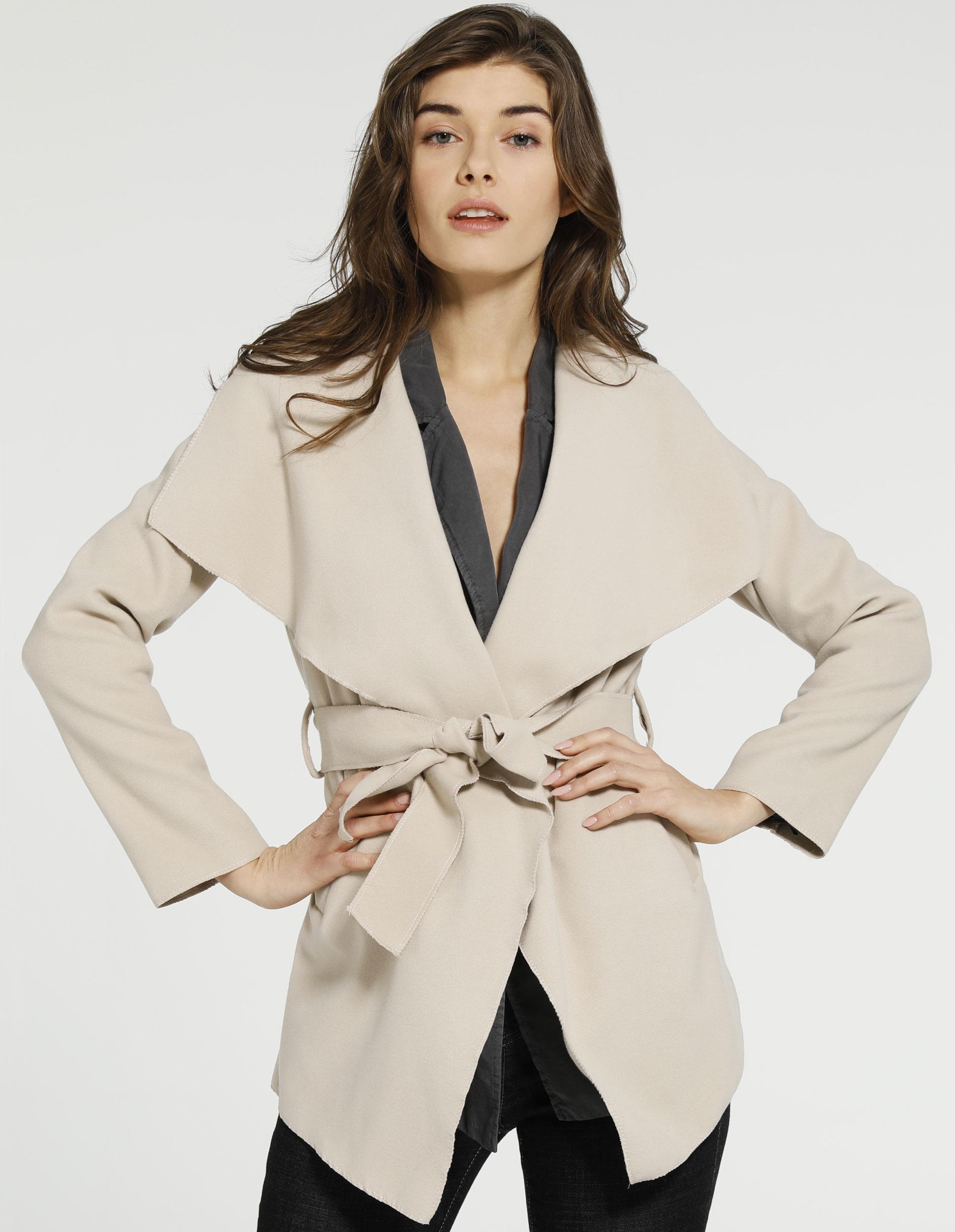 Płaszcz materiałowy - 71-21726 BEIG - Unisono