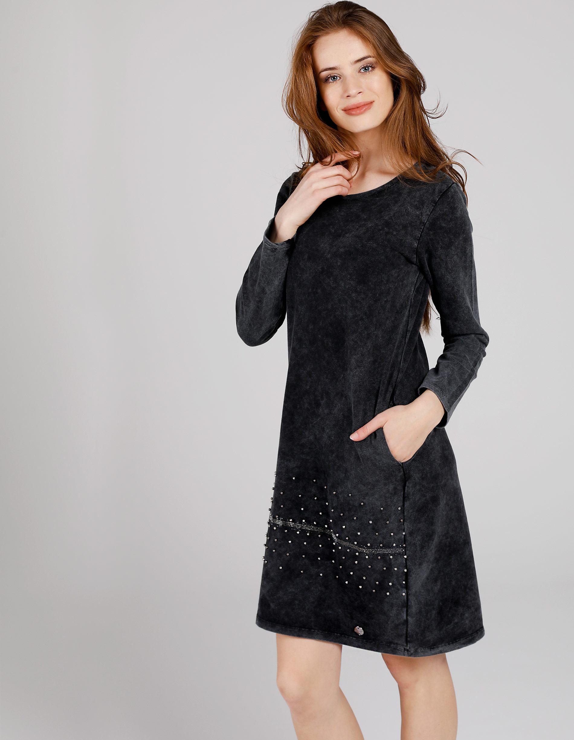 Sukienka - 4-8847 BLACK - Unisono