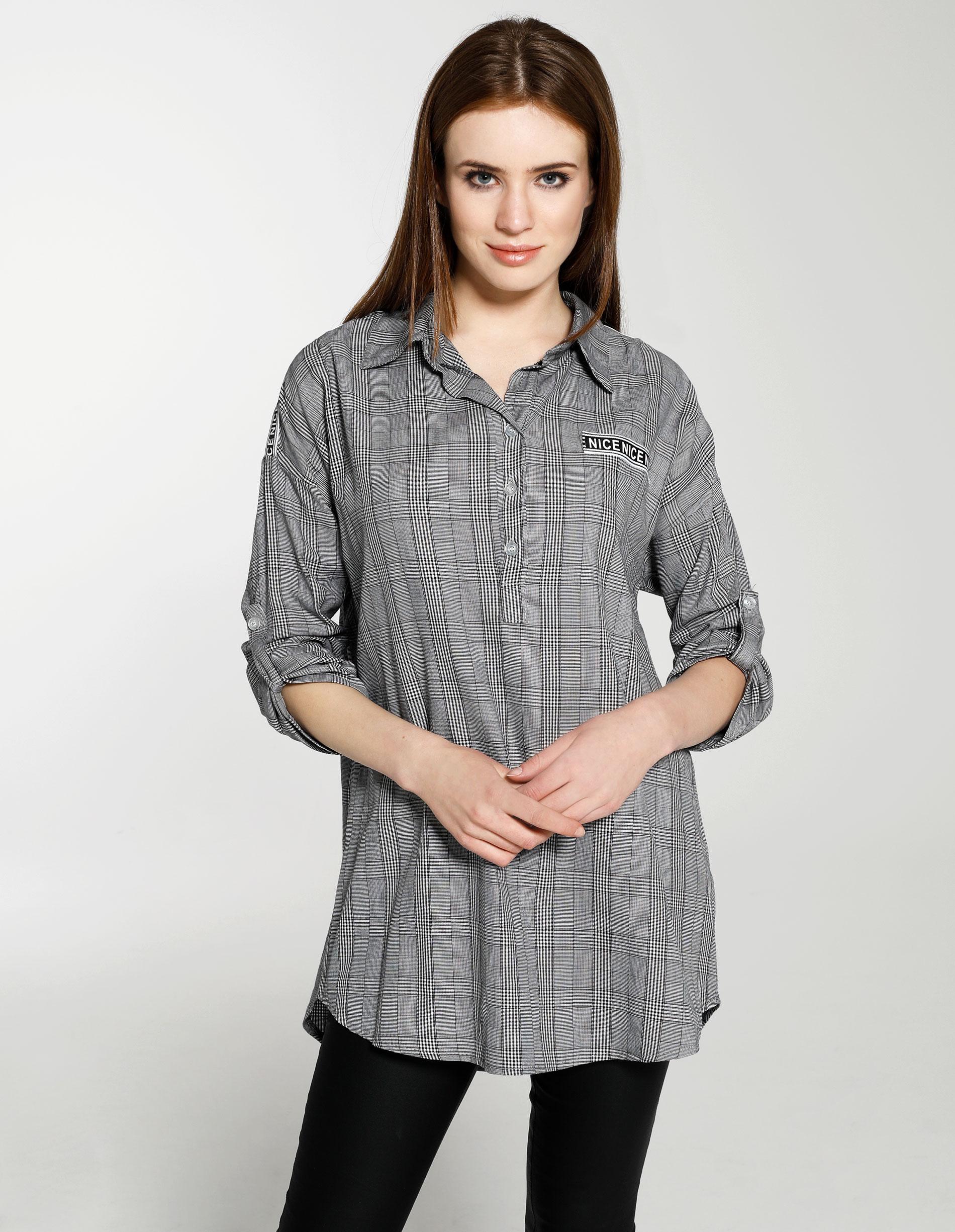 Koszula - 158-2666 N-GR - Unisono