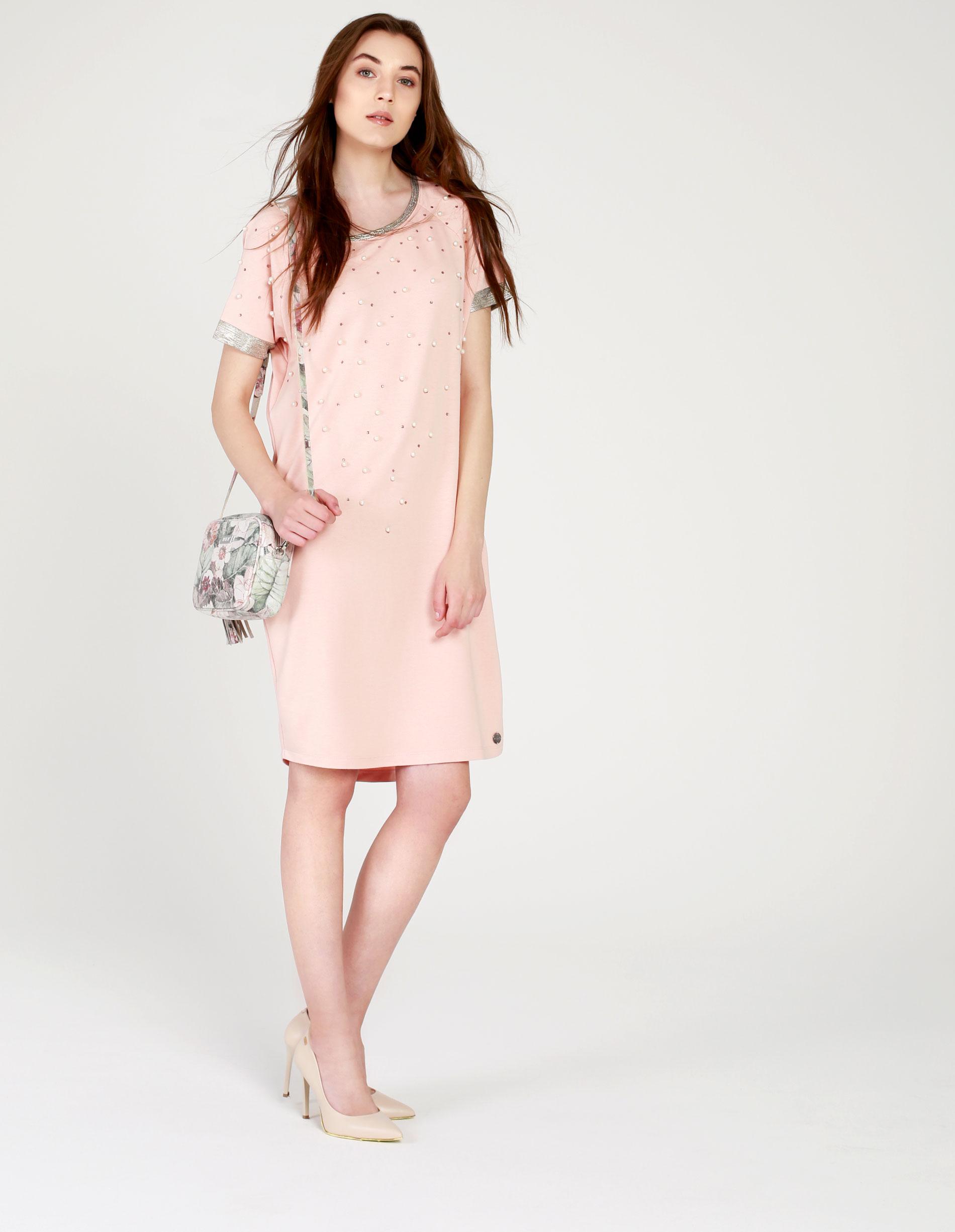 Sukienka - 4-9073 PINK - Unisono