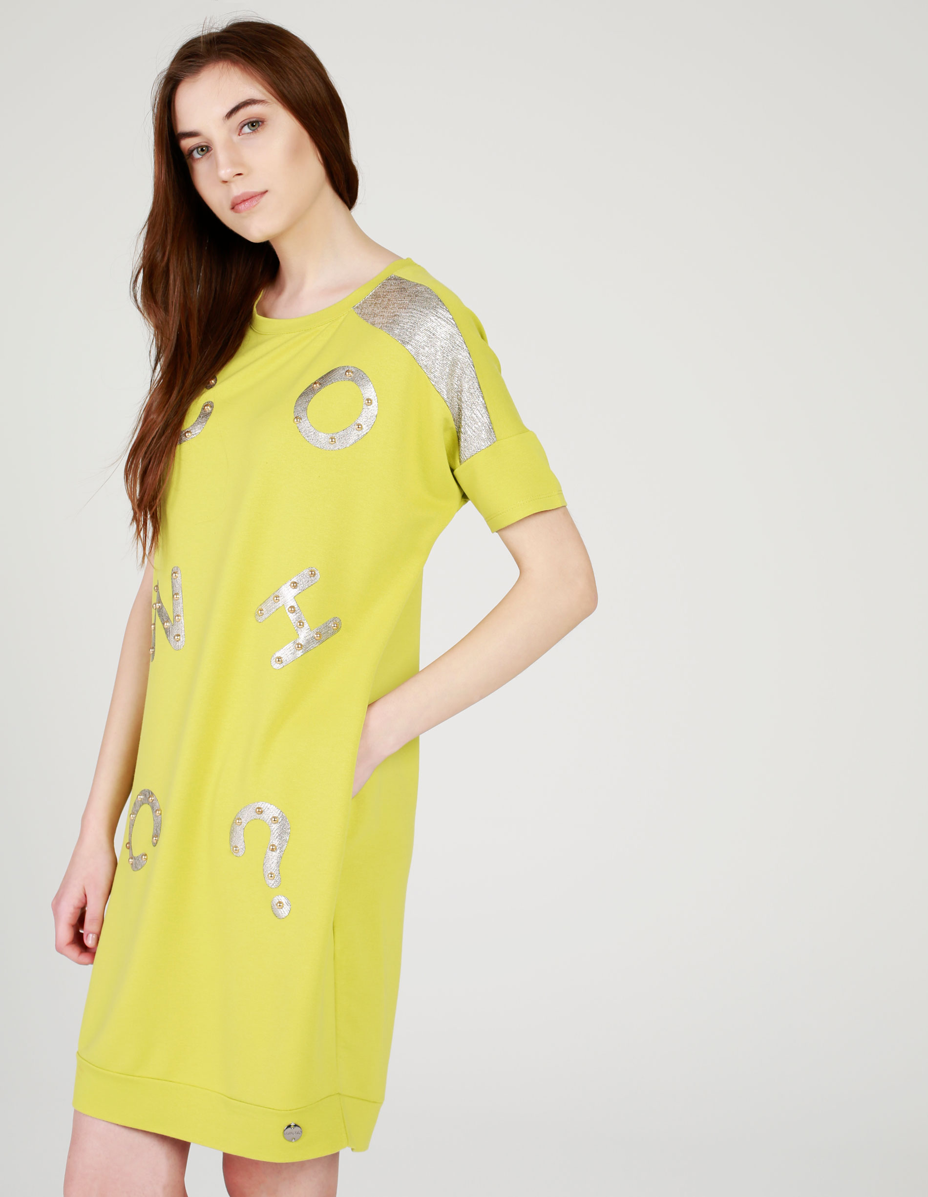 Sukienka - 4-9090 YELLOW - Unisono