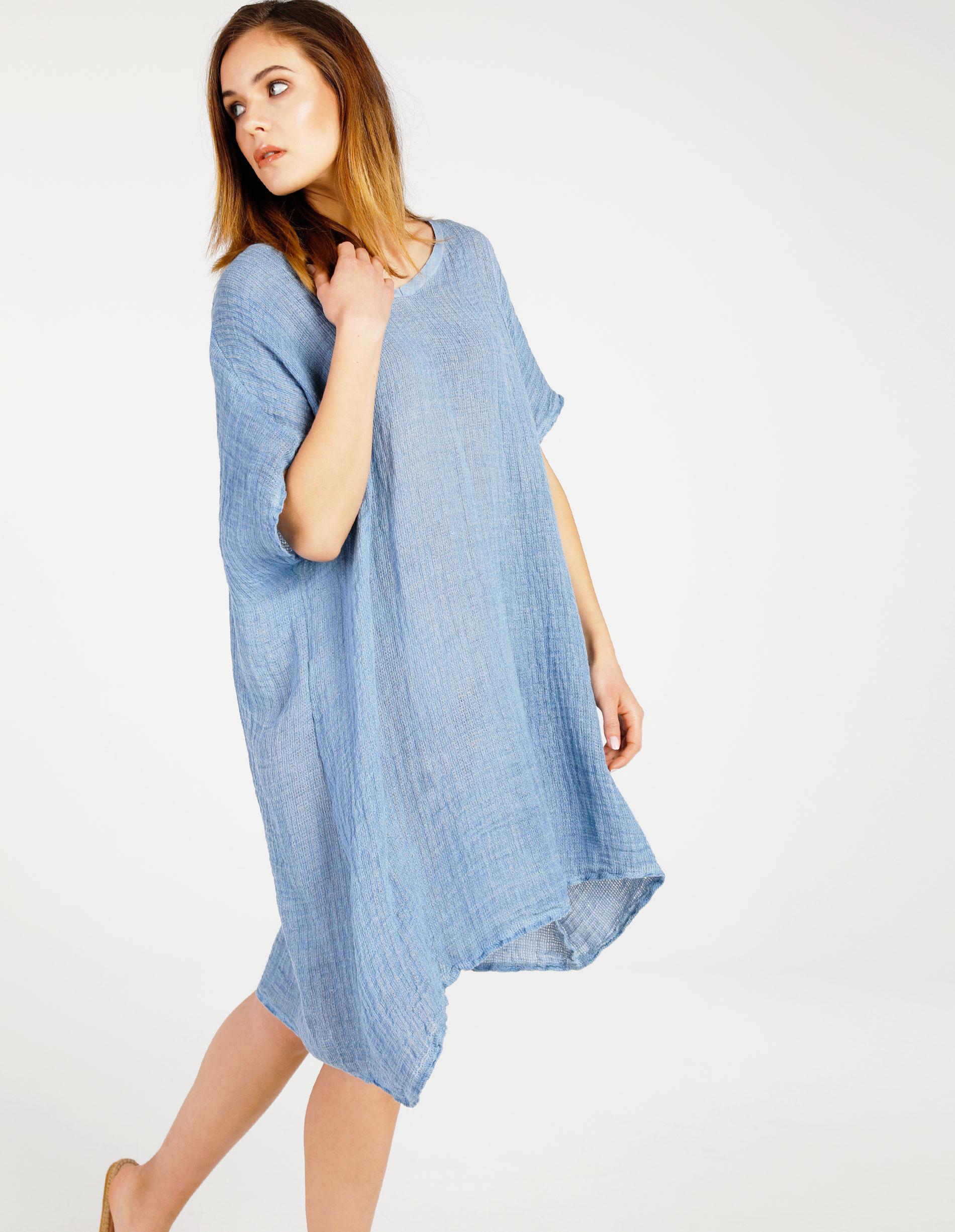 Sukienka - 16-3860 JEANS - Unisono