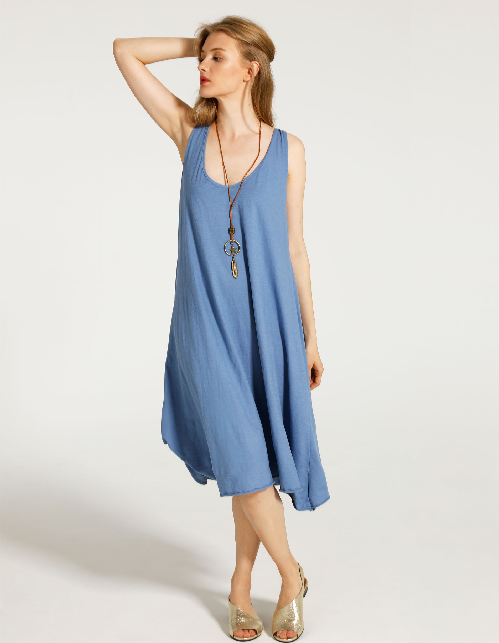 Sukienka - 85-7751 JEANS - Unisono