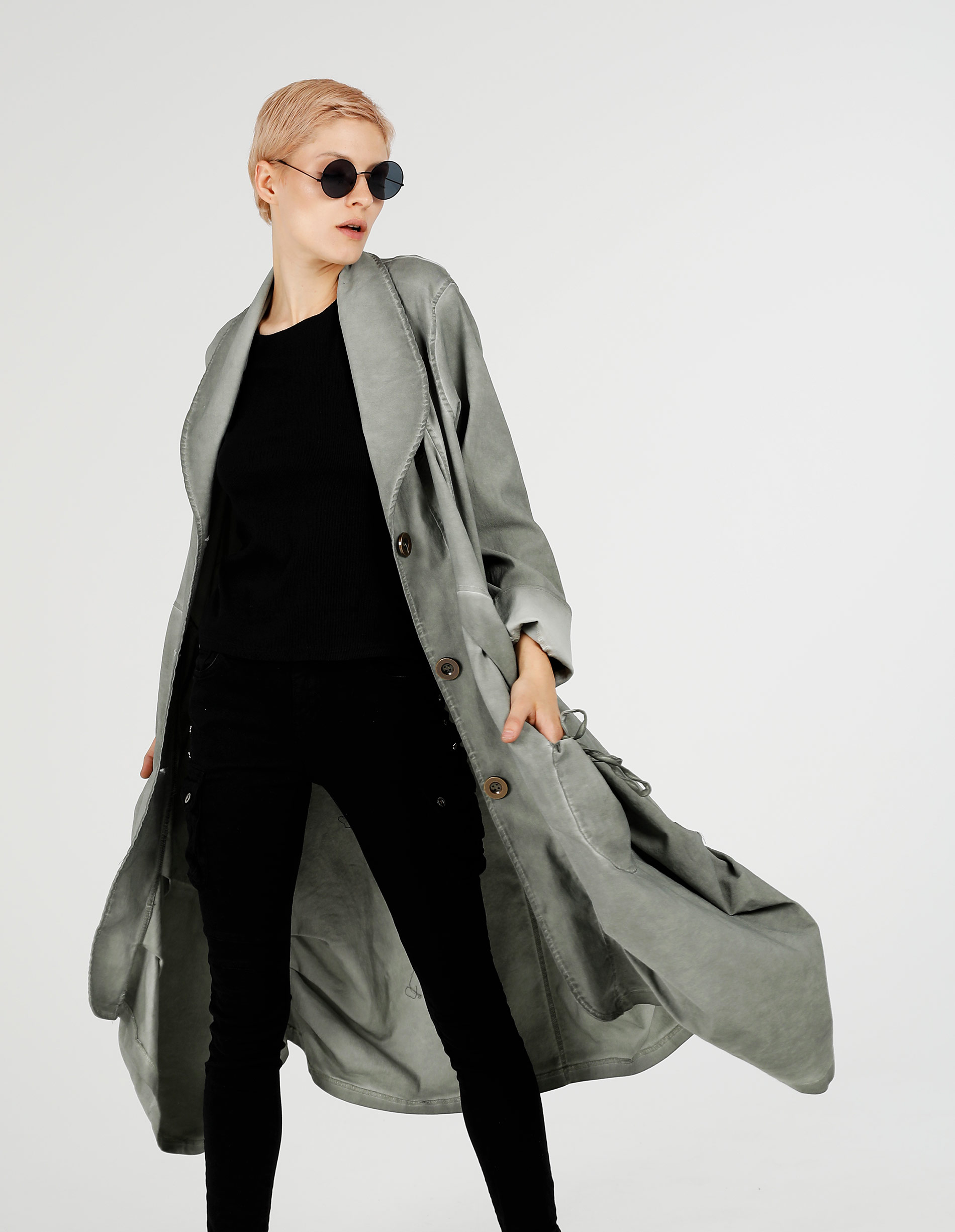 Płaszcz materiałowy - 77-8868 MILIT - Unisono