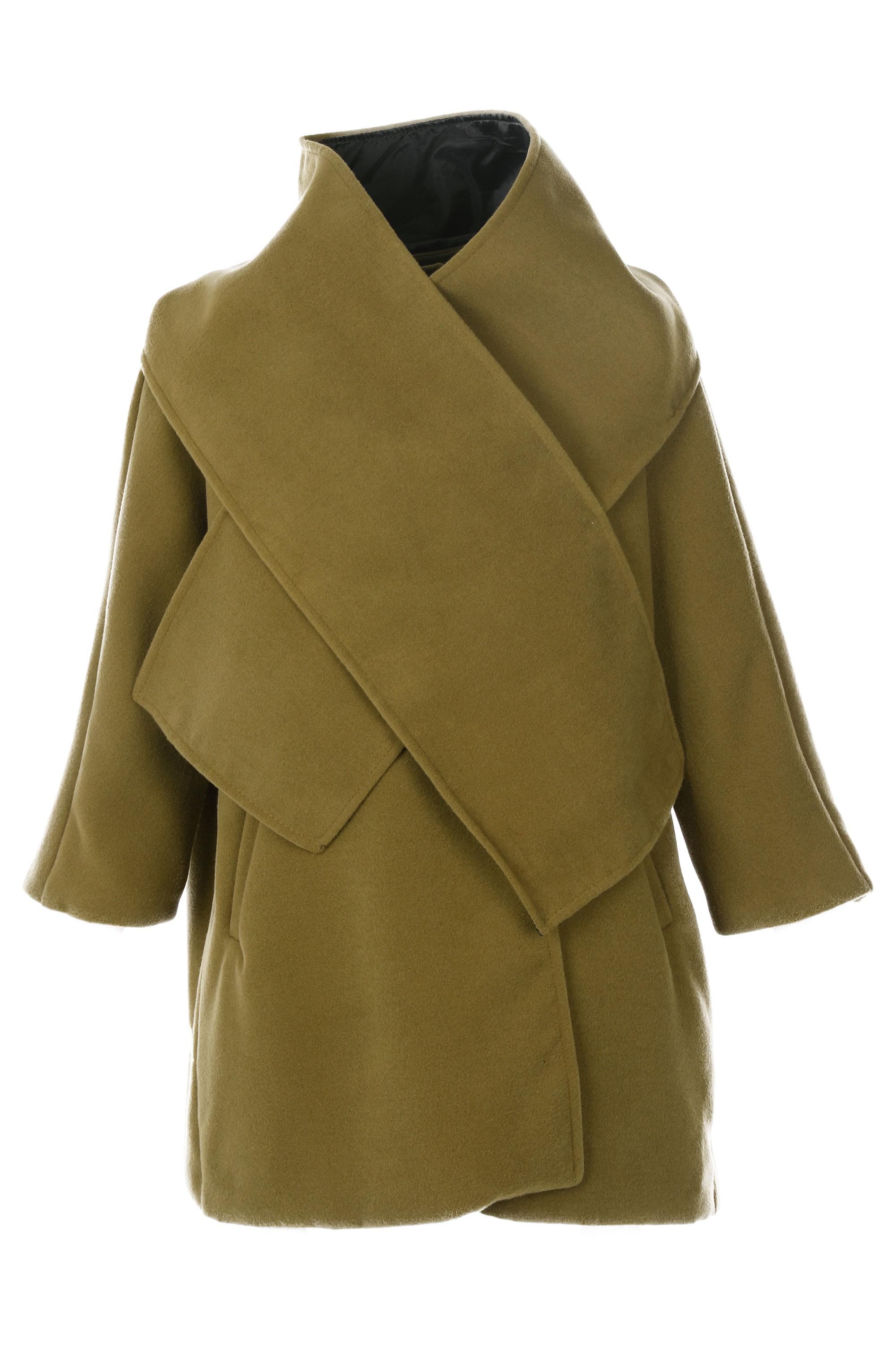 Płaszcz materiałowy - 102-1044 OLIV - Unisono