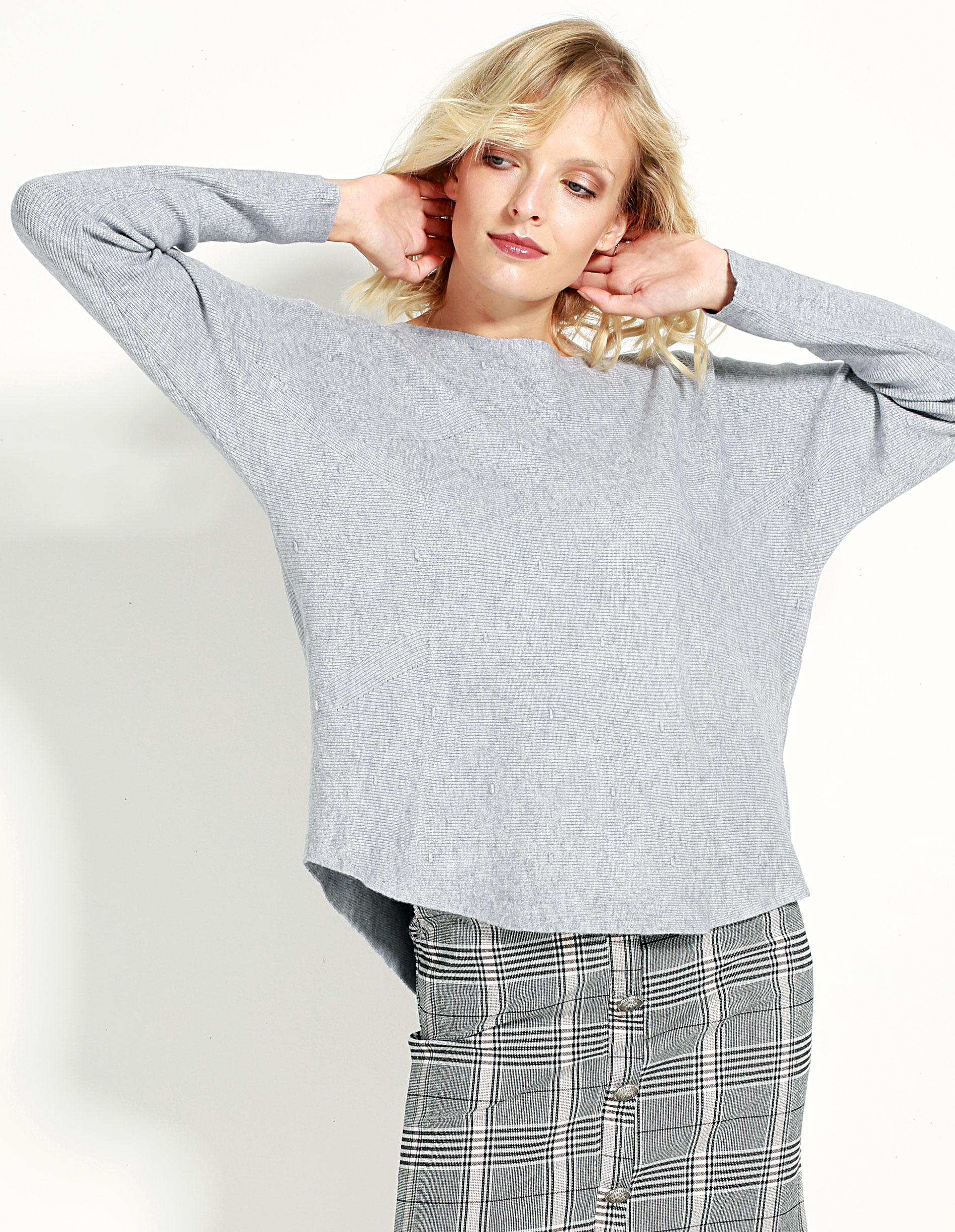 Sweter - 153-18579 GRI - Unisono